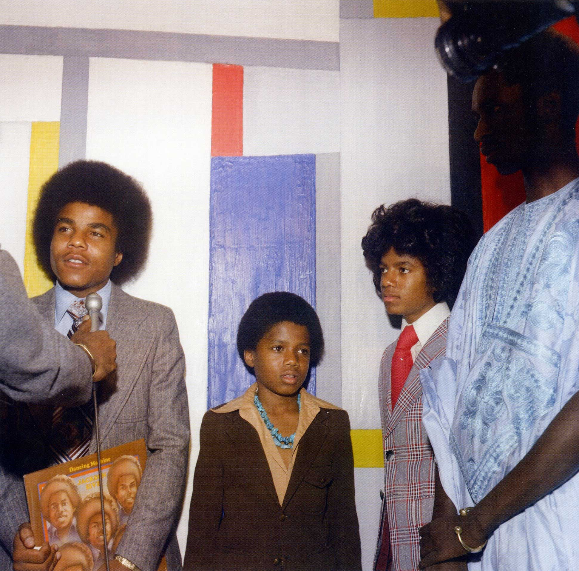 From left: Tito Jackson, Randy Jackson, Michael Jackson, and Mamadou Johnny Sekka in New York City in the 1970s.