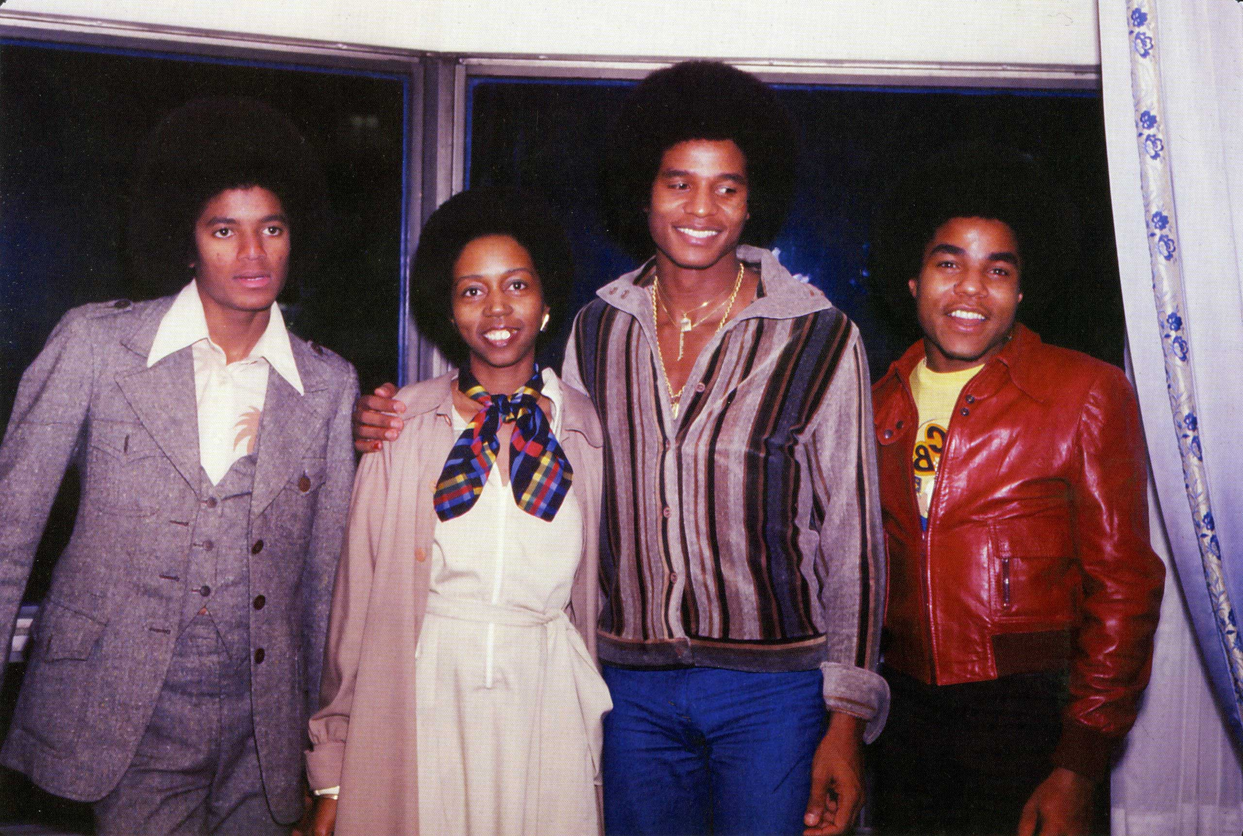 From left: Michael Jackson, Sandra Trim-DaCosta, Jackie Jackson and Tito Jackson in New York City in the 1970s.