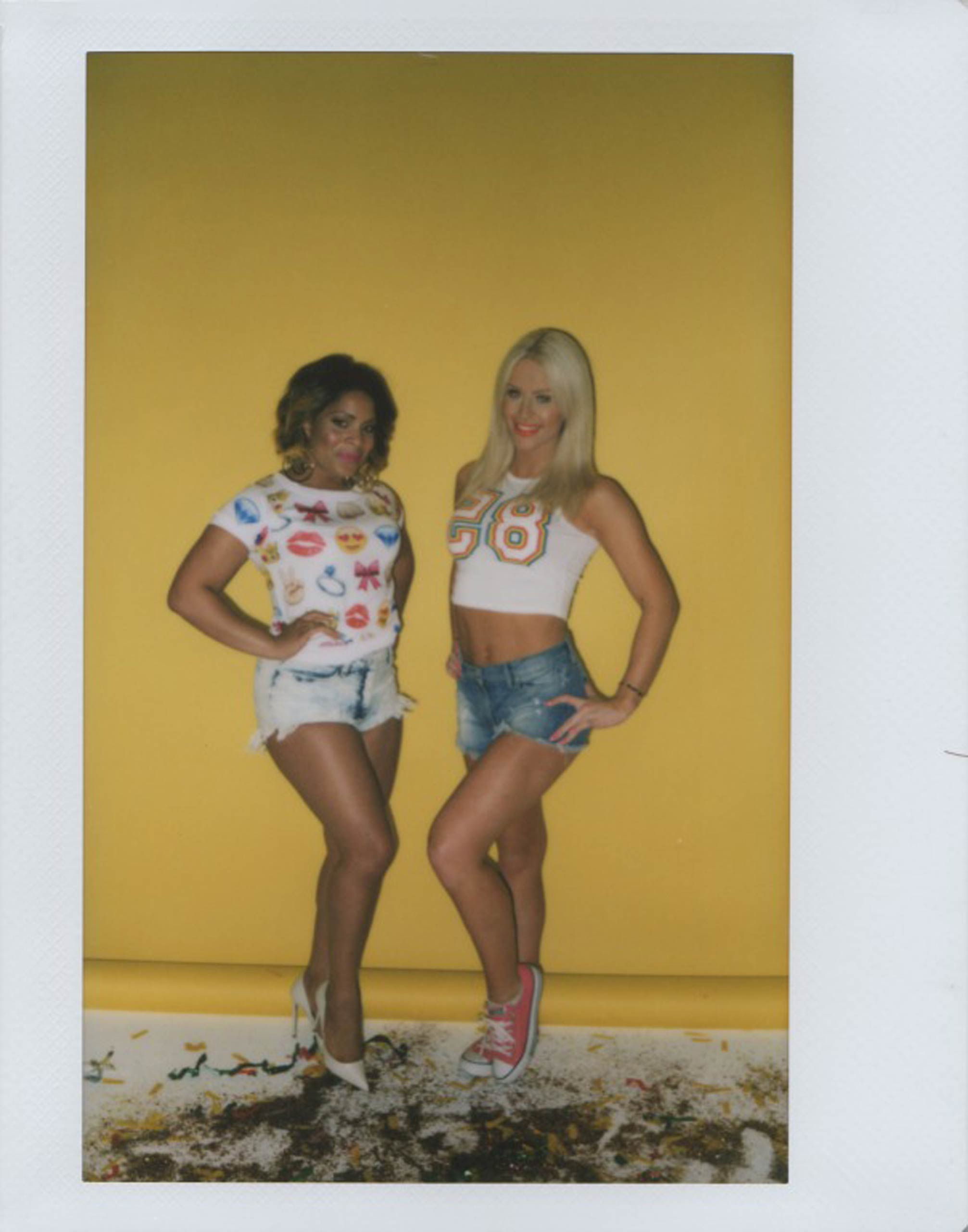 Precious Davis, left, and Gigi Gorgeous pose for a portrait in Hollywood, Calif., on May 22, 2015.
