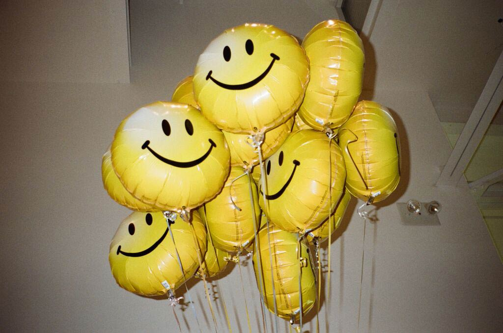 Yellow balloons decorate the studio at the #InstaPride photo shoot in Hollywood, Calif., on May 22, 2015.