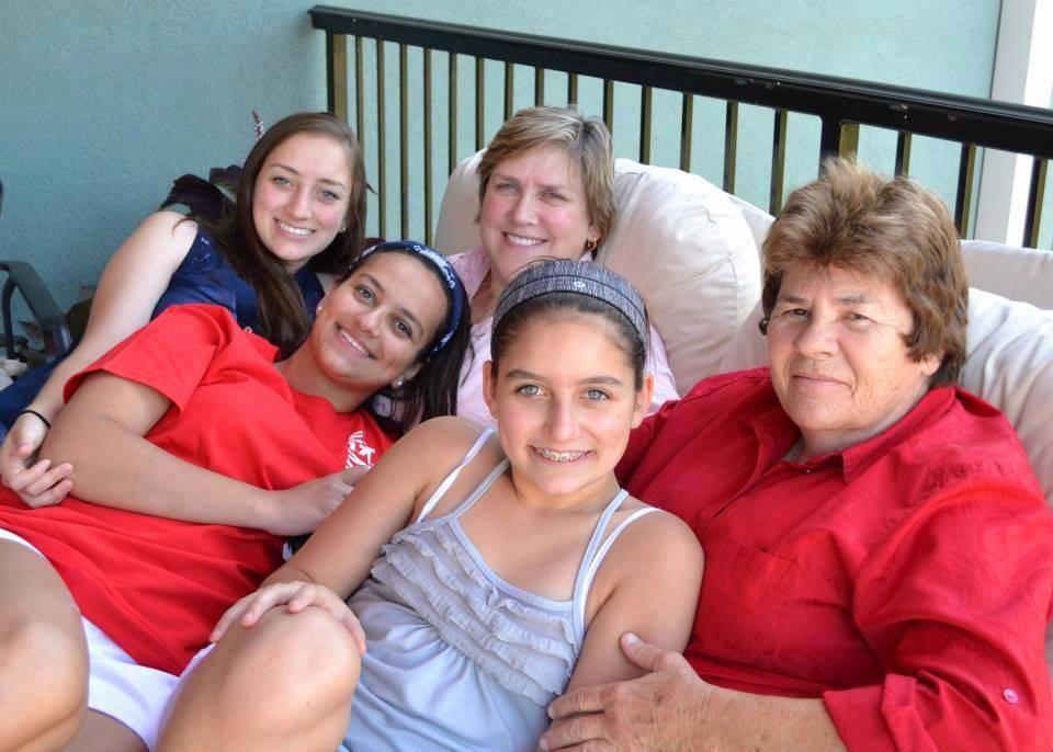 Morrison family—back row from left: Karen, Audrey; front row from left: Jillian, Kinsey, Teagan