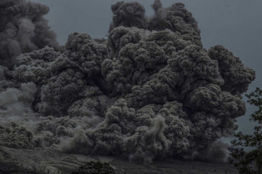 Mount Sinabung eruption Indonesia
