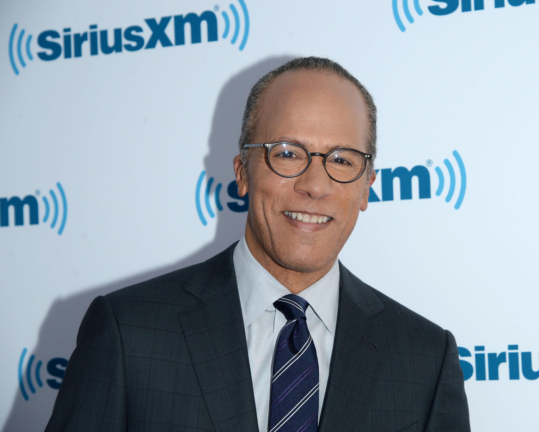 Journalist Lester Holt visits SiriusXM Studios on June 29, 2015 in New York, N.Y.