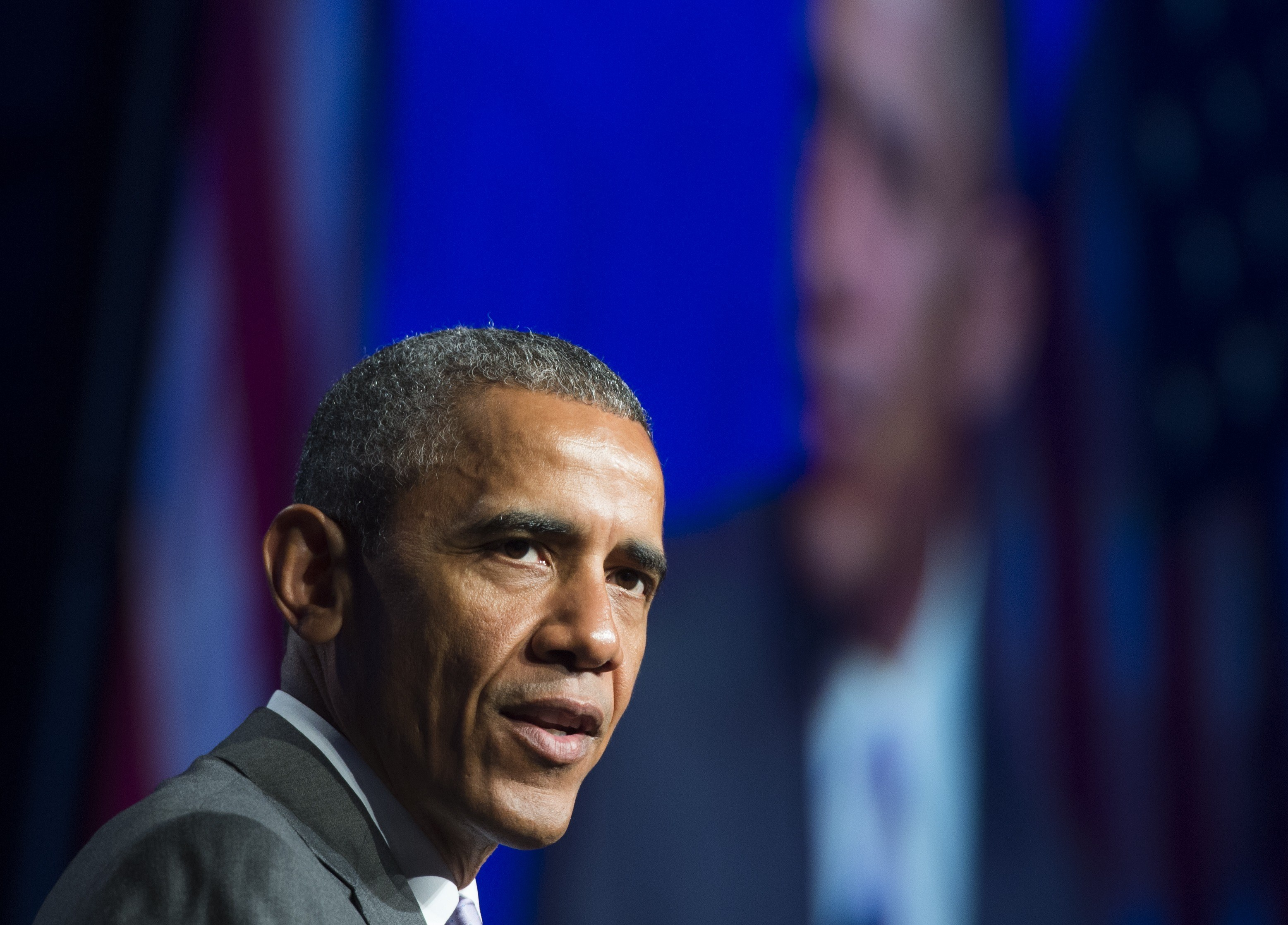 President Barack Obama speaks about healthcare reforms and the Affordable Care Act, known as Obamacare, during the Catholic Hospital Association Conference in Washington on June 9, 2015.