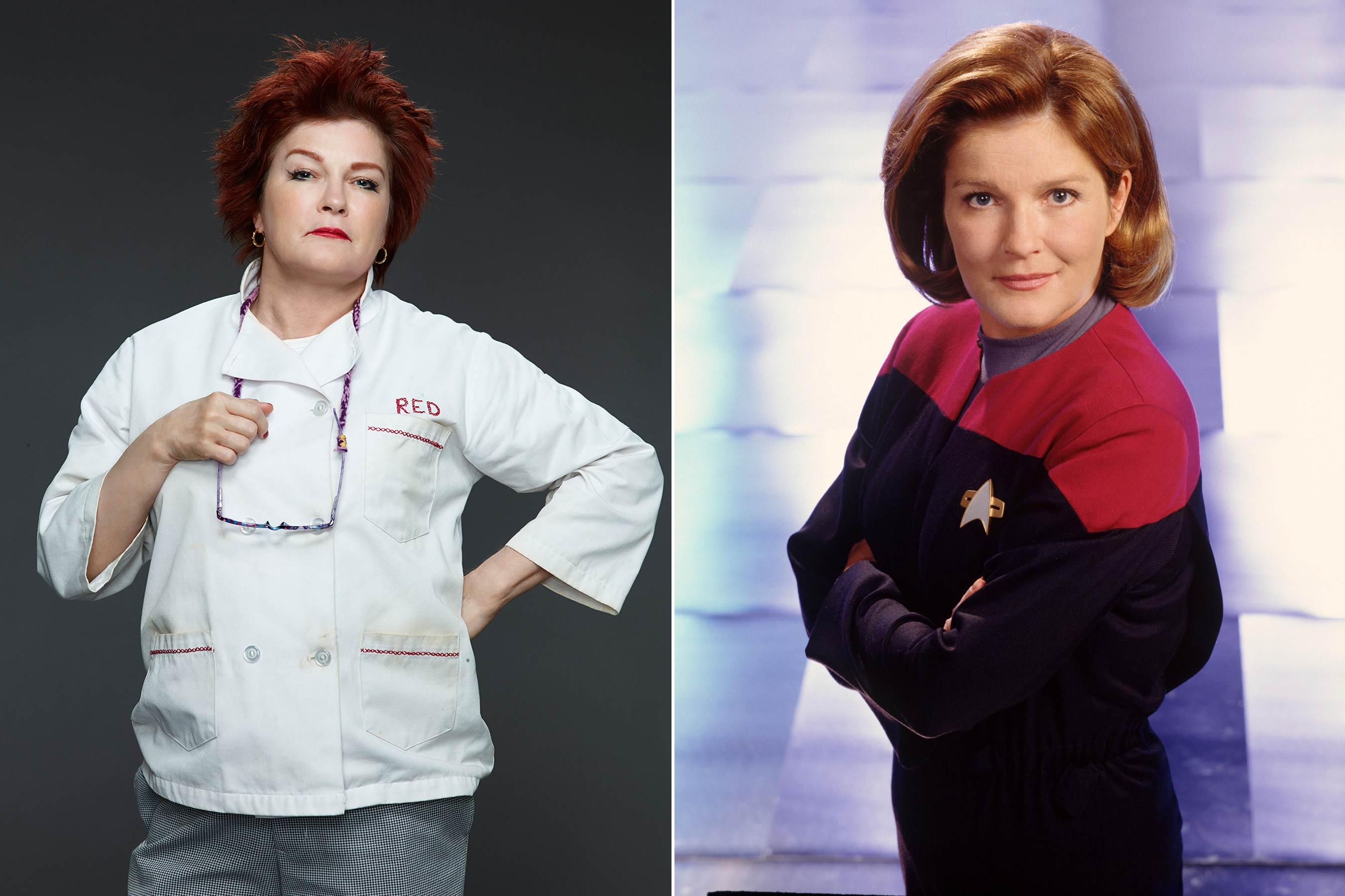 Before Kate Mulgrew played Galina  Red  Reznikov on Orange Is the New Black she starred as Kathryn Janeway on Star Trek: Voyager.