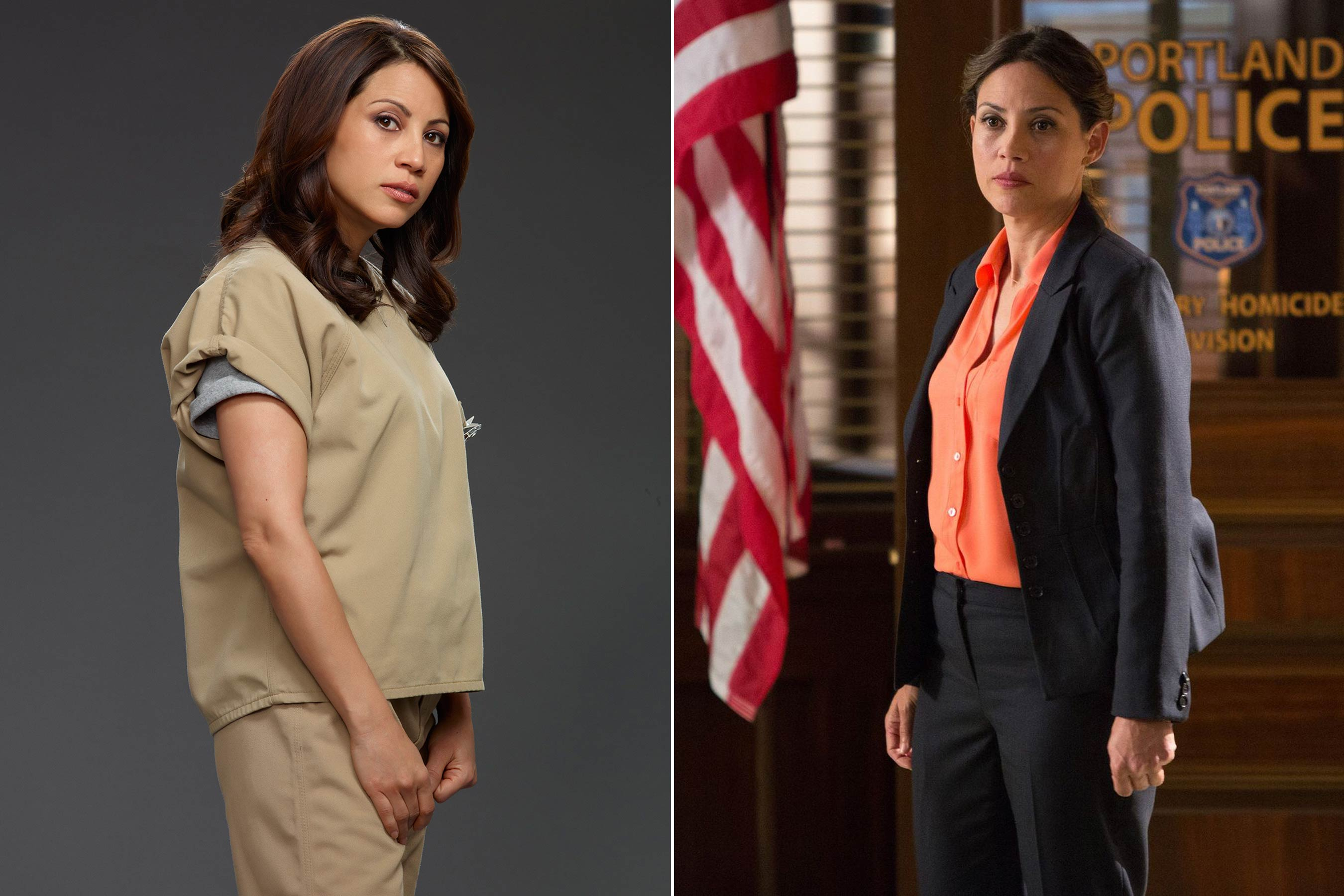 Elizabeth Rodriguez plays Aleida Diaz on Orange Is the New Black and she has also guest starred as Special Agent Chavez on Grimm.