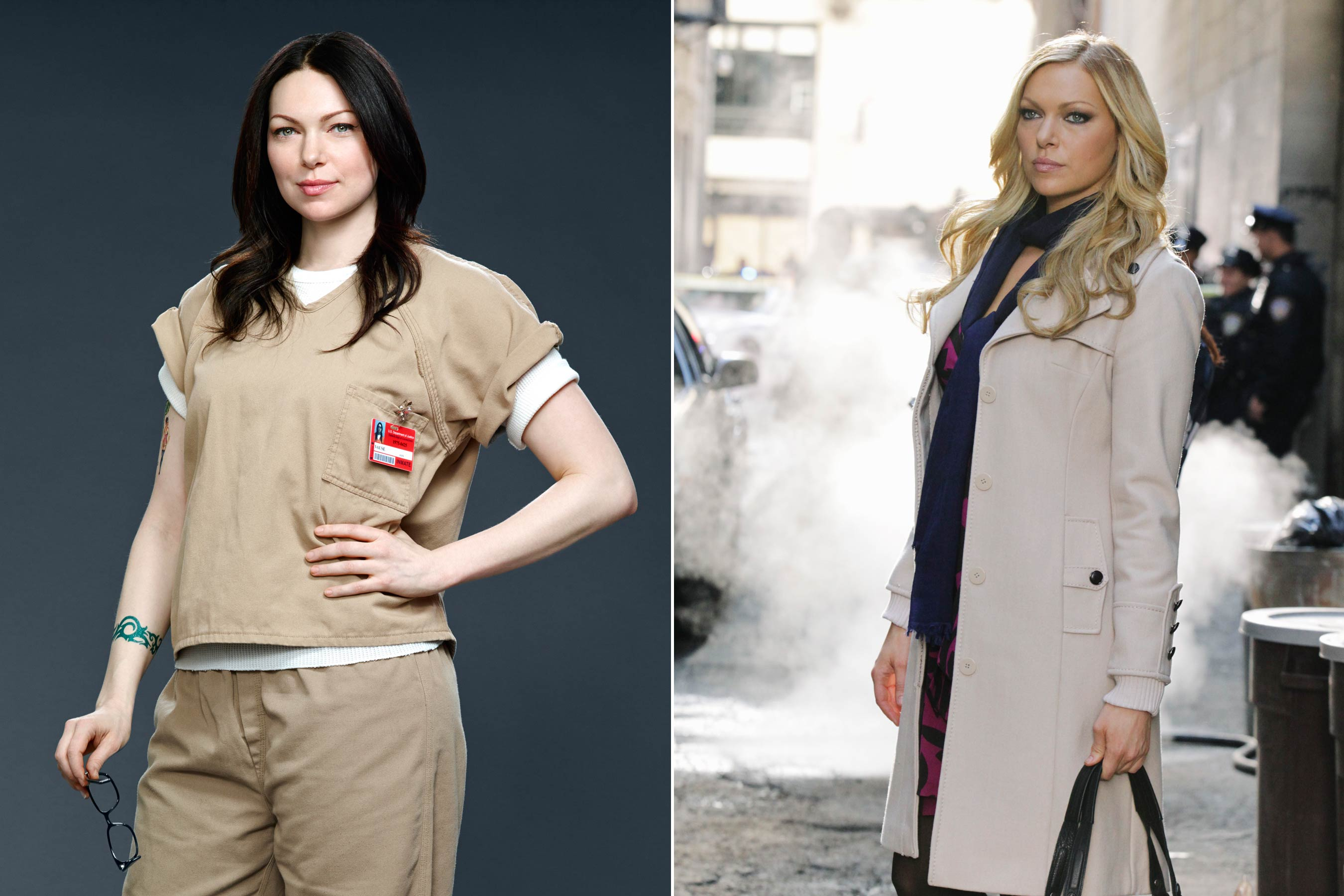 Before Laura Prepon played Alex Vause on <i>Orange Is the New Black</i> she guest starred as Natalie Rhodes on <i>Castle</i>.