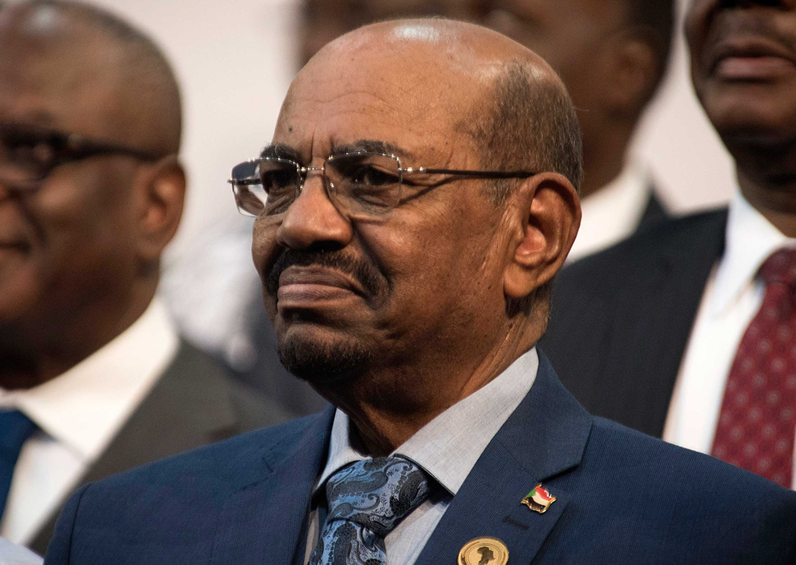 Sudanese President Omar al-Bashir is seen during the opening session of the African Union summit in Johannesburg on June 14, 2015