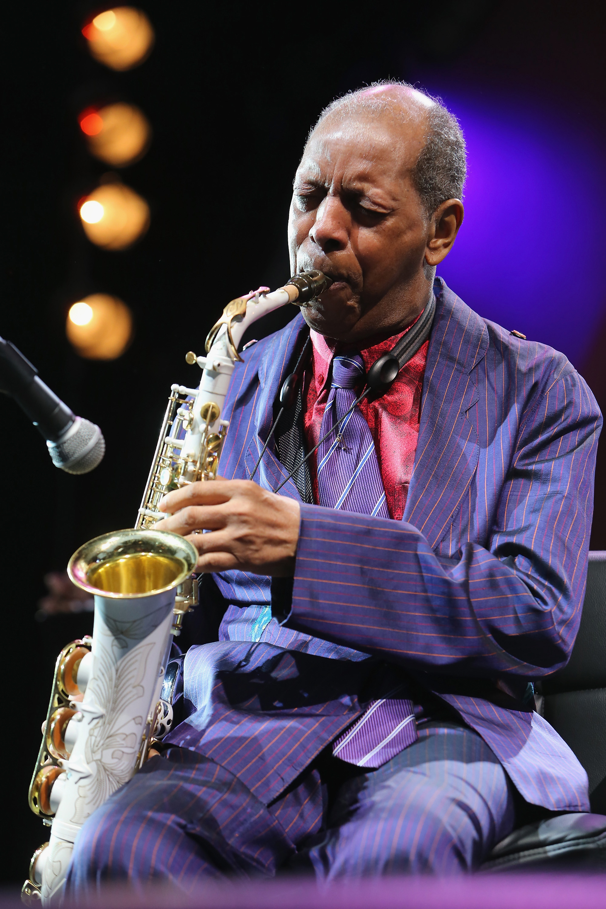 Ornette Coleman performs during  Celebrate Ornette:  The Music of Ornette Coleman , part of the 2014 Celebrate Brooklyn! season at the Prospect Park Bandshell on June 12, 2014 in Brooklyn, N.Y.