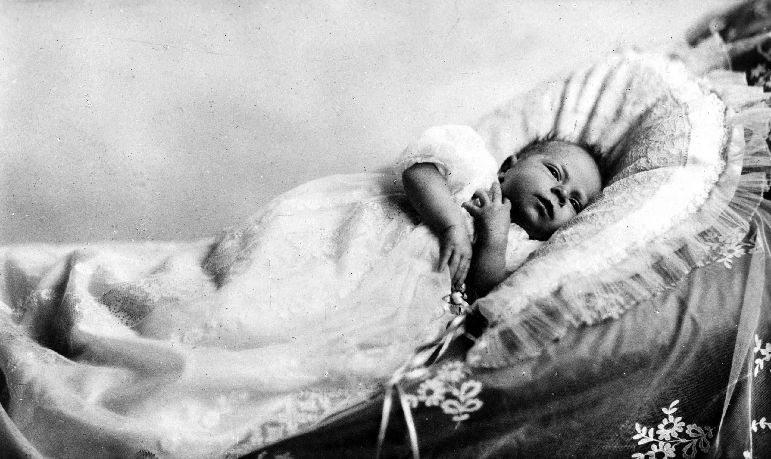 Then-Princess Elizabeth as a very young baby in 1926.