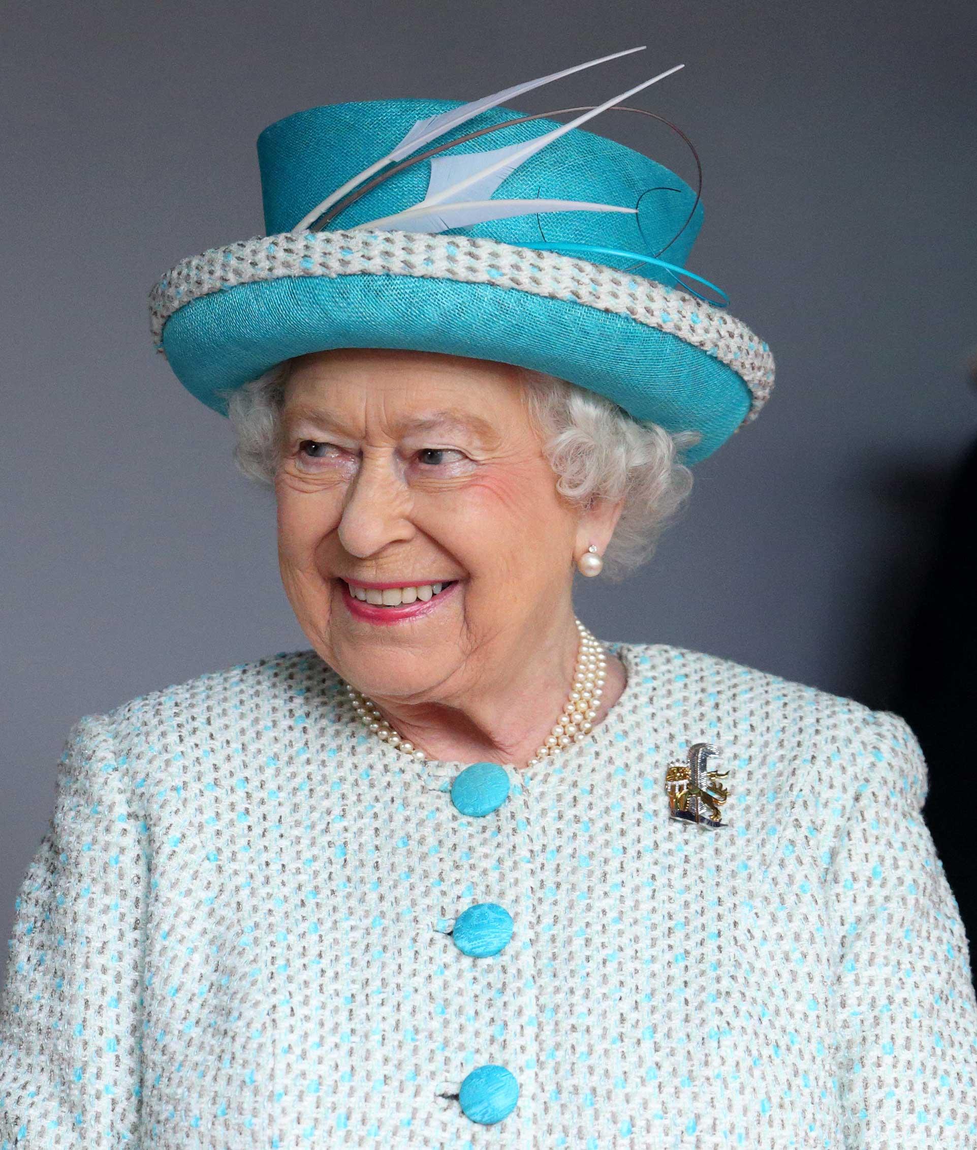 Queen Elizabeth II, Duke of Lancaster visits Lancaster Castle on May 29, 2015 in Lancaster, England.