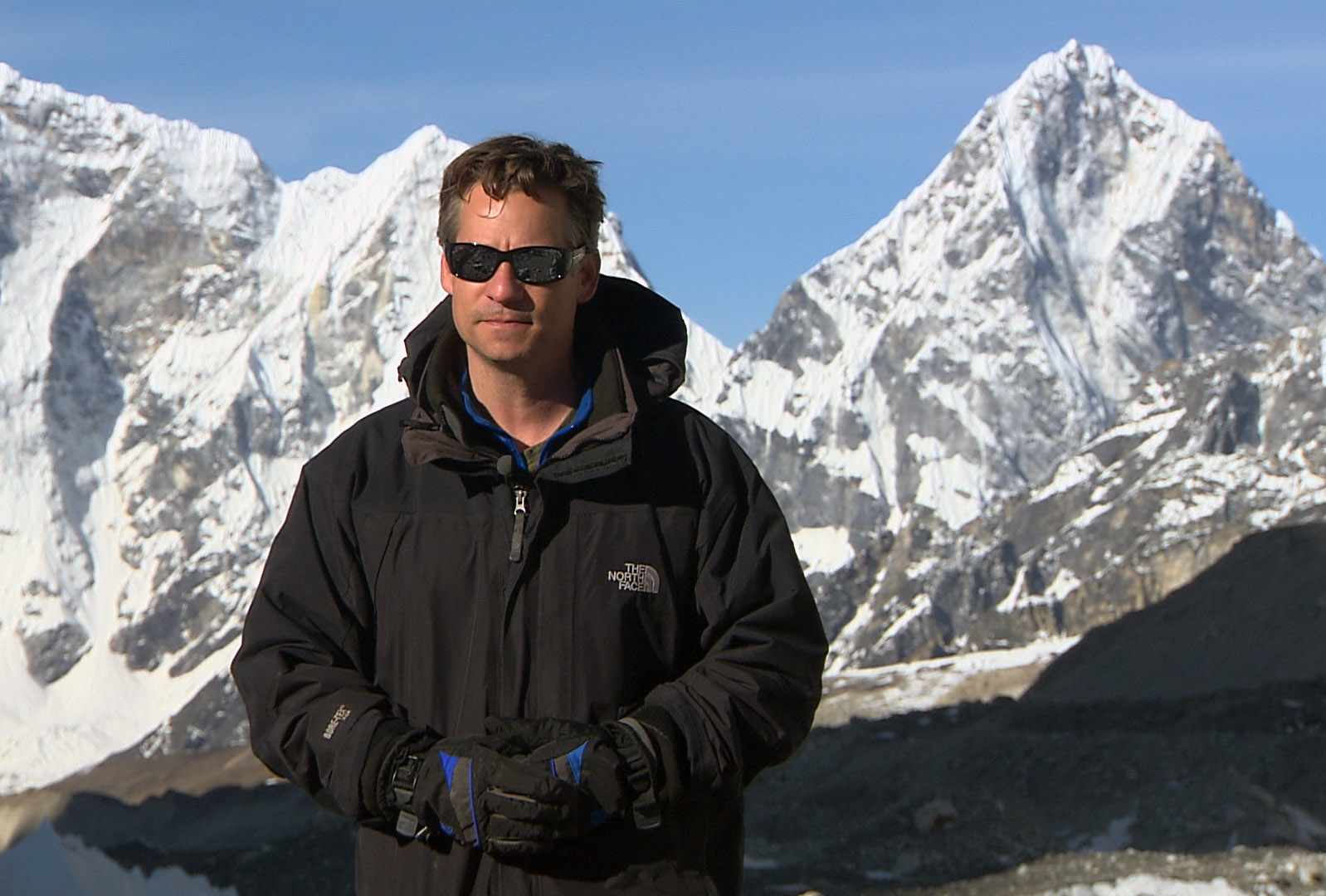 Richard Engel at Everest Base Camp.