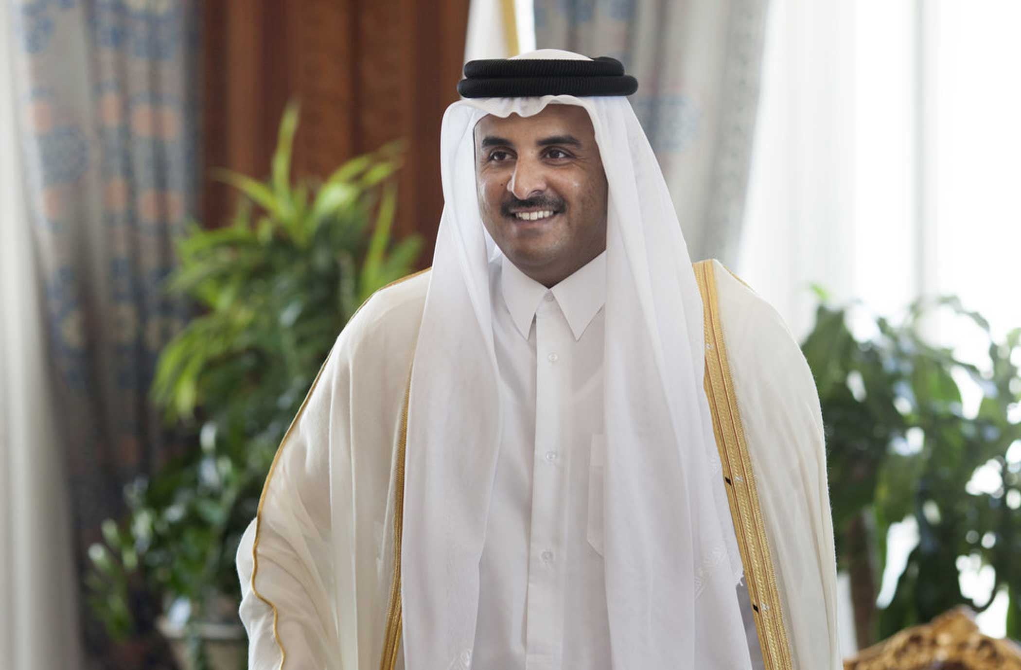 Sheikh Tamim bin Hamad bin Khalifa Al Thani, Emir of the State of Qatar on June 01, 2014, in Doha, Qatar.