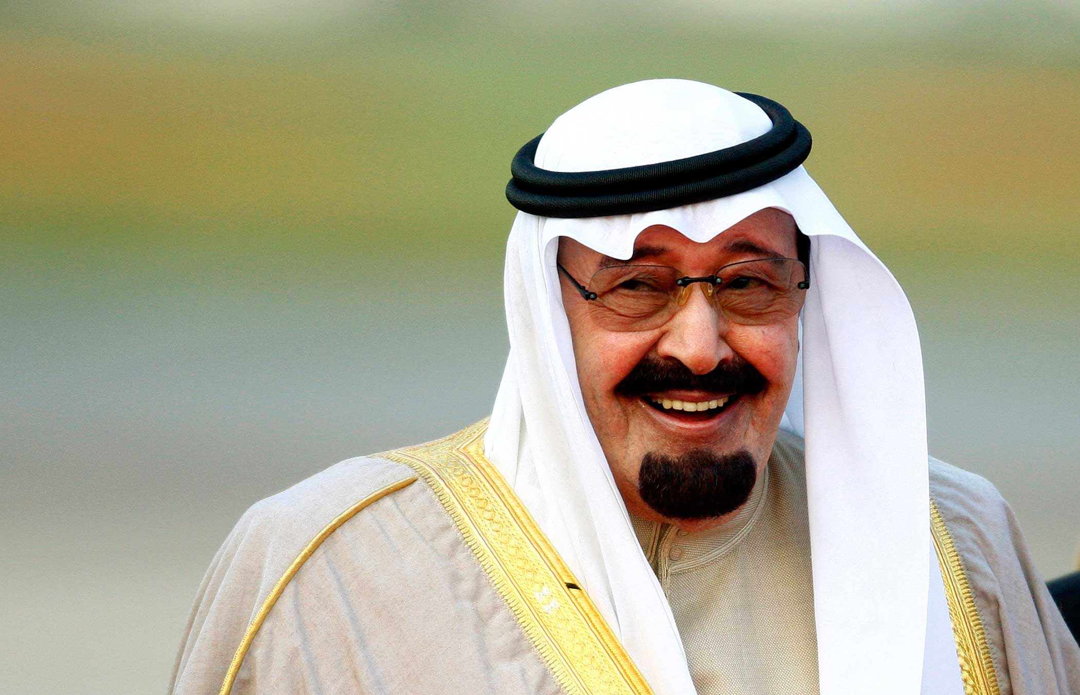 Saudi Arabia's King Abdullah arrives at Heathrow Airport in west London on Oct. 29, 2007.