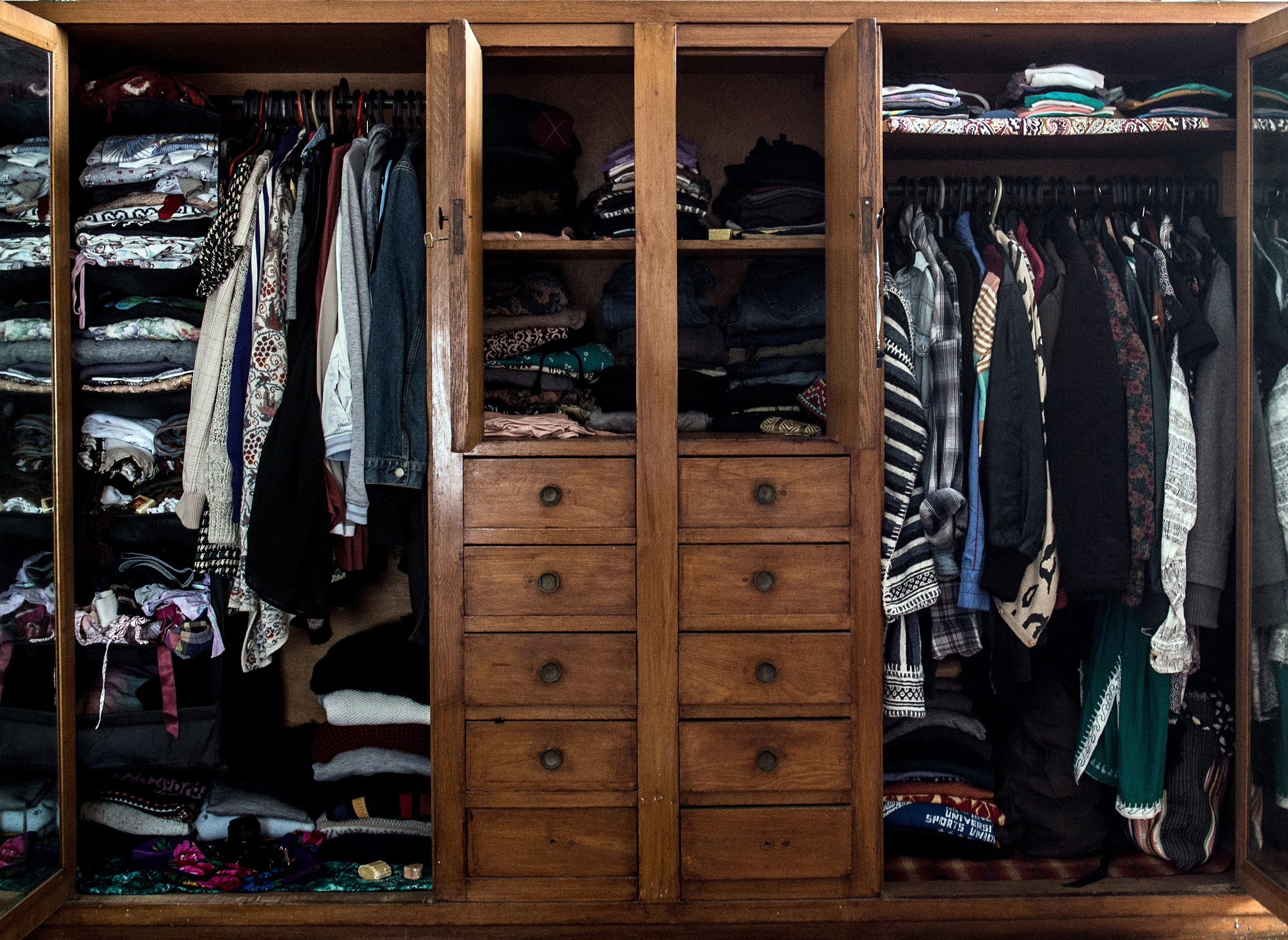 A woman's closet in Cairo, Egypt, 2015.