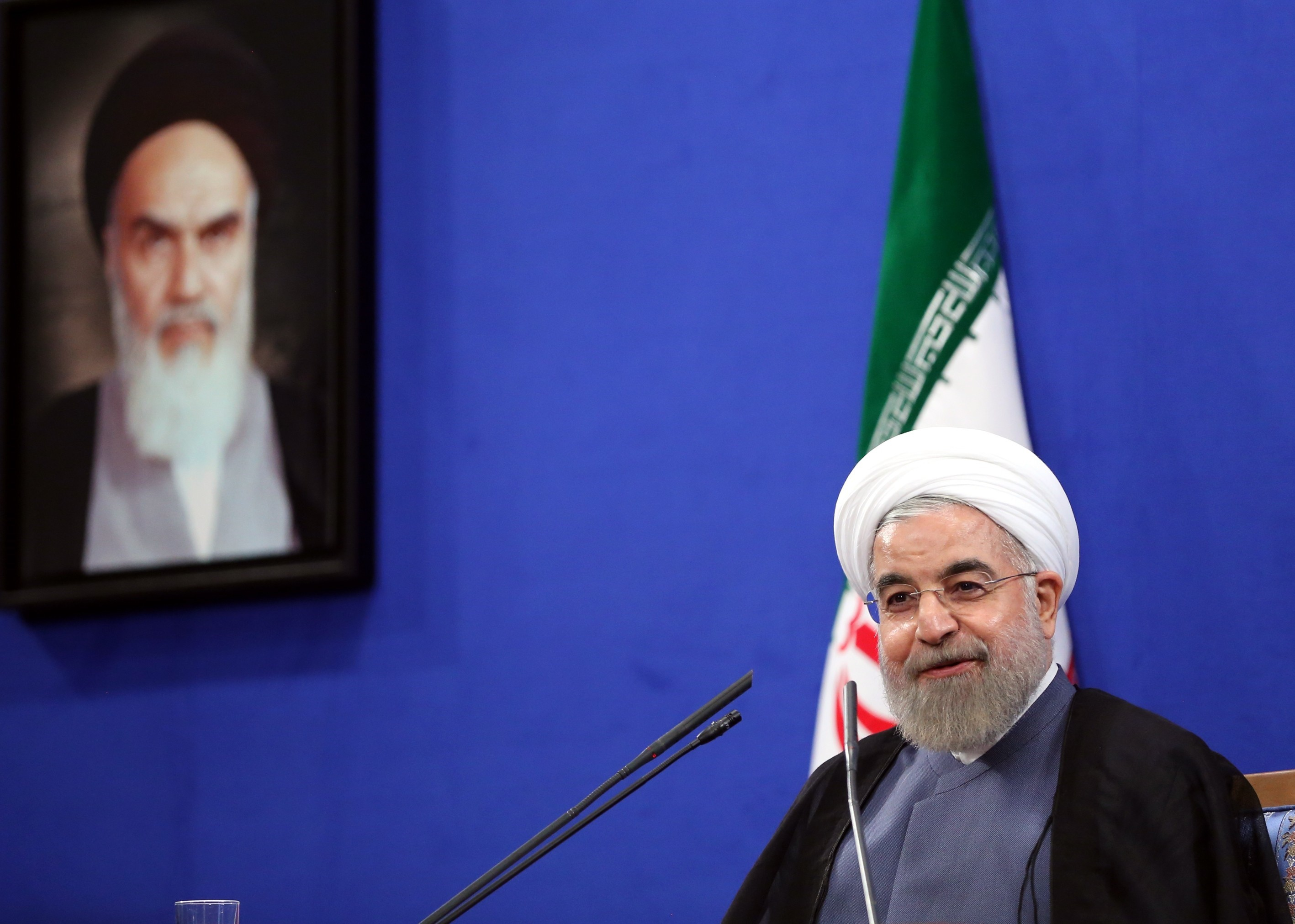 Iranian President Hassan Rouhani speaks during a press conference in Tehran, Iran on June 13, 2015.