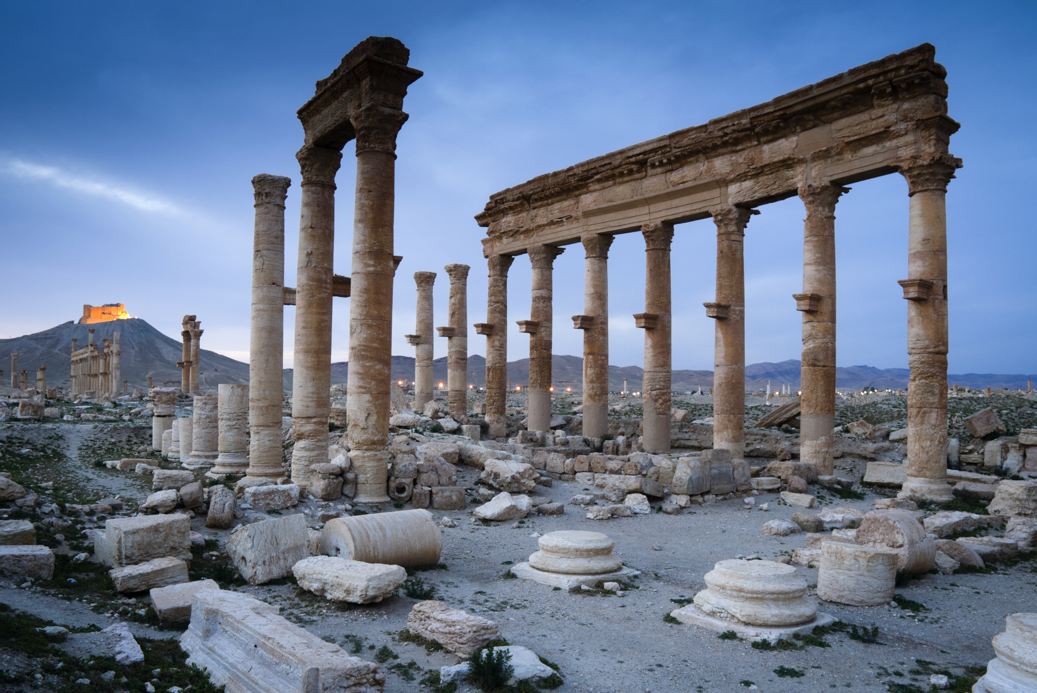 Ruins of Palmyra in Syria