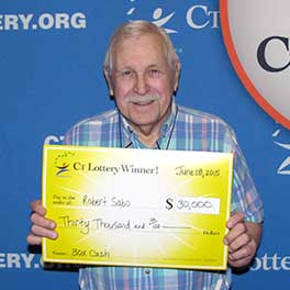 "Bob Sabo becomes a ""30X Cash 2nd Edition"" instant game top prize winner."
