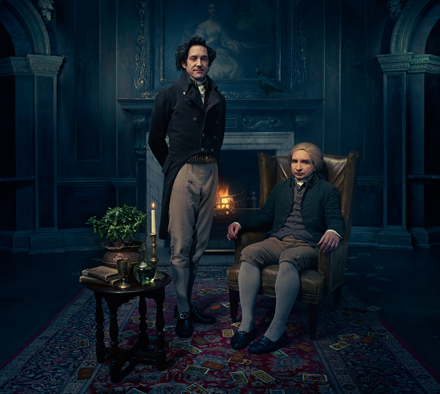 Carvel and Marsan as Strange and Norrell.