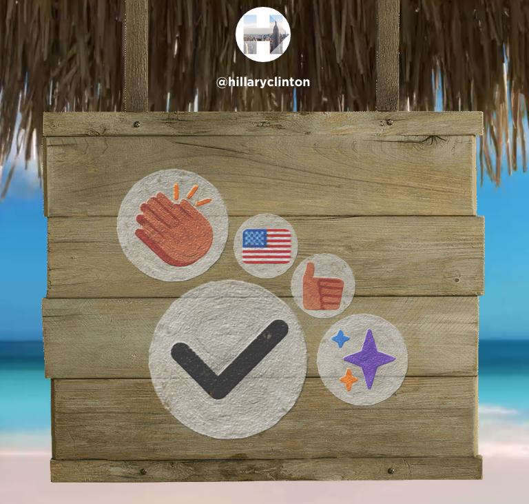 Hillary Clinton Favorite Emoji