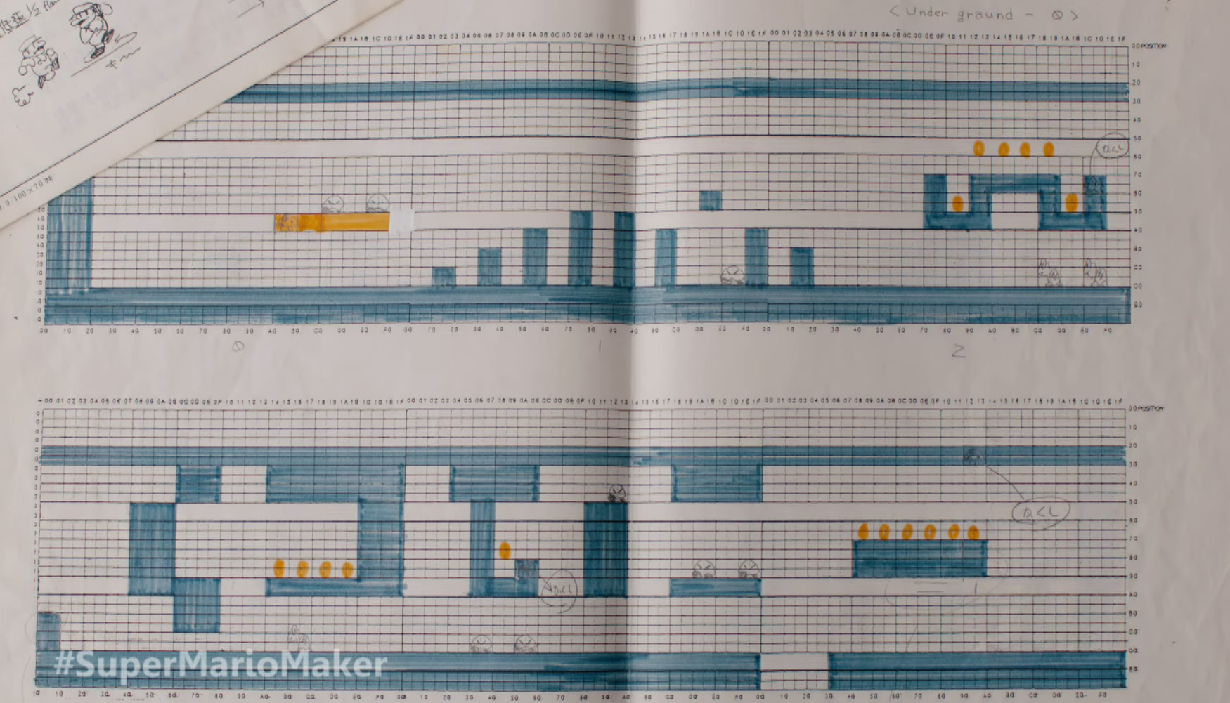 Early Mario levels were designed by hand using graph paper