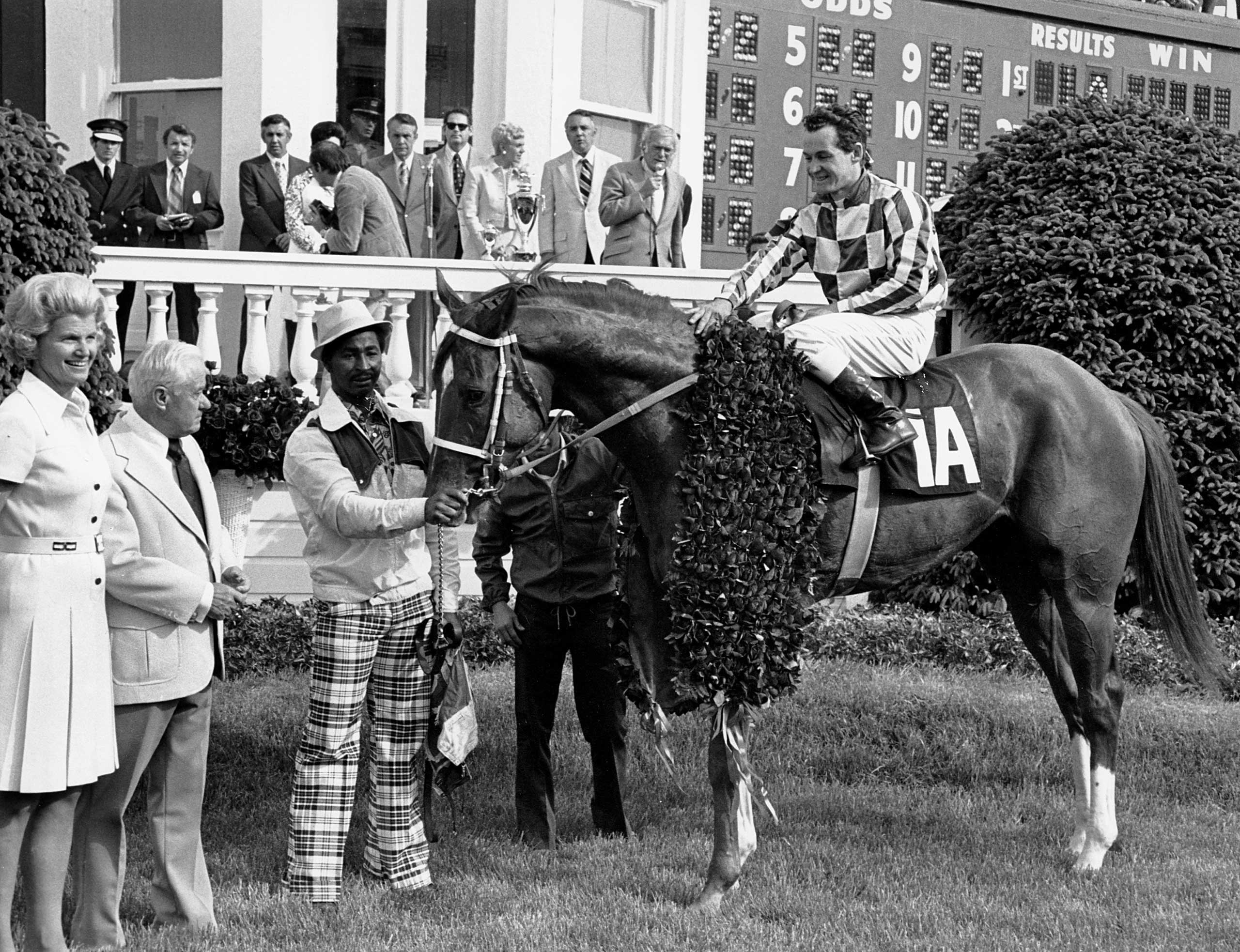 1973: Secretariat with jockey Ron Turcotte