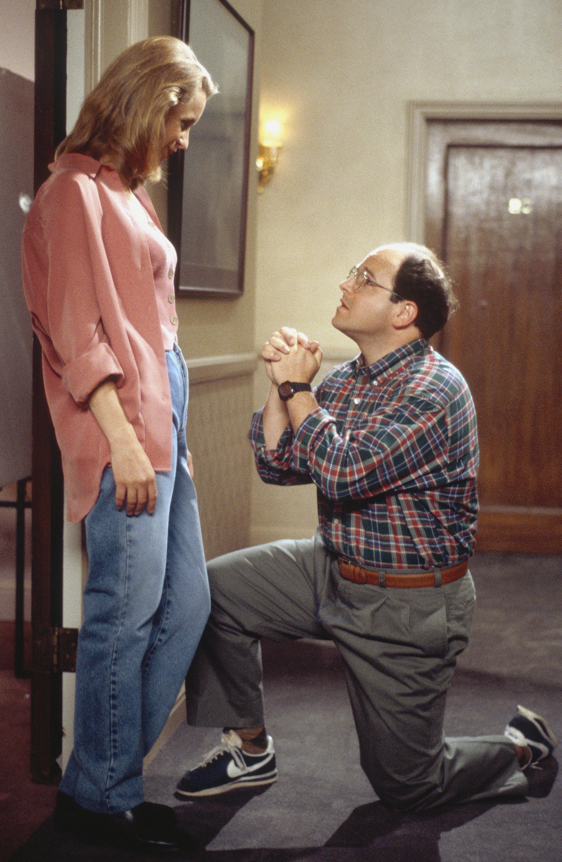 Heidi Swedberg as Susan Biddle Ross, Jason Alexander as George Costanza.