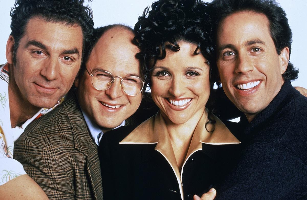Michael Richards as Cosmo Kramer, Jason Alexander as George Costanza, Julia Louis-Dreyfus as Elaine Benes, Jerry Seinfeld as Jerry Seinfeld