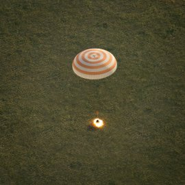 Expedition 43 Soyuz TMA-15M Landing