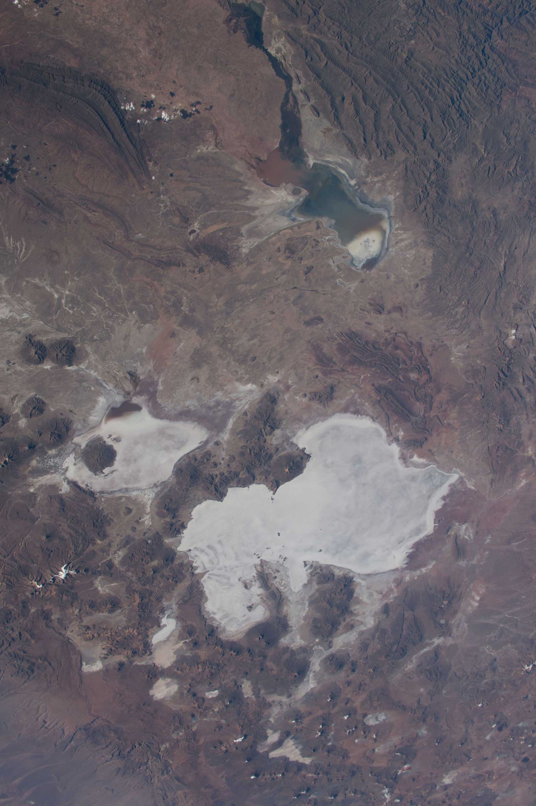 NASA astronaut Terry Virts Expedition 43 Commander on the International Space Station tweeted this Earth observation image of South America with the following comment:  Salar de Uyuni in the #Bolivia desert #SouthAmerica. The world's largest salt flat .