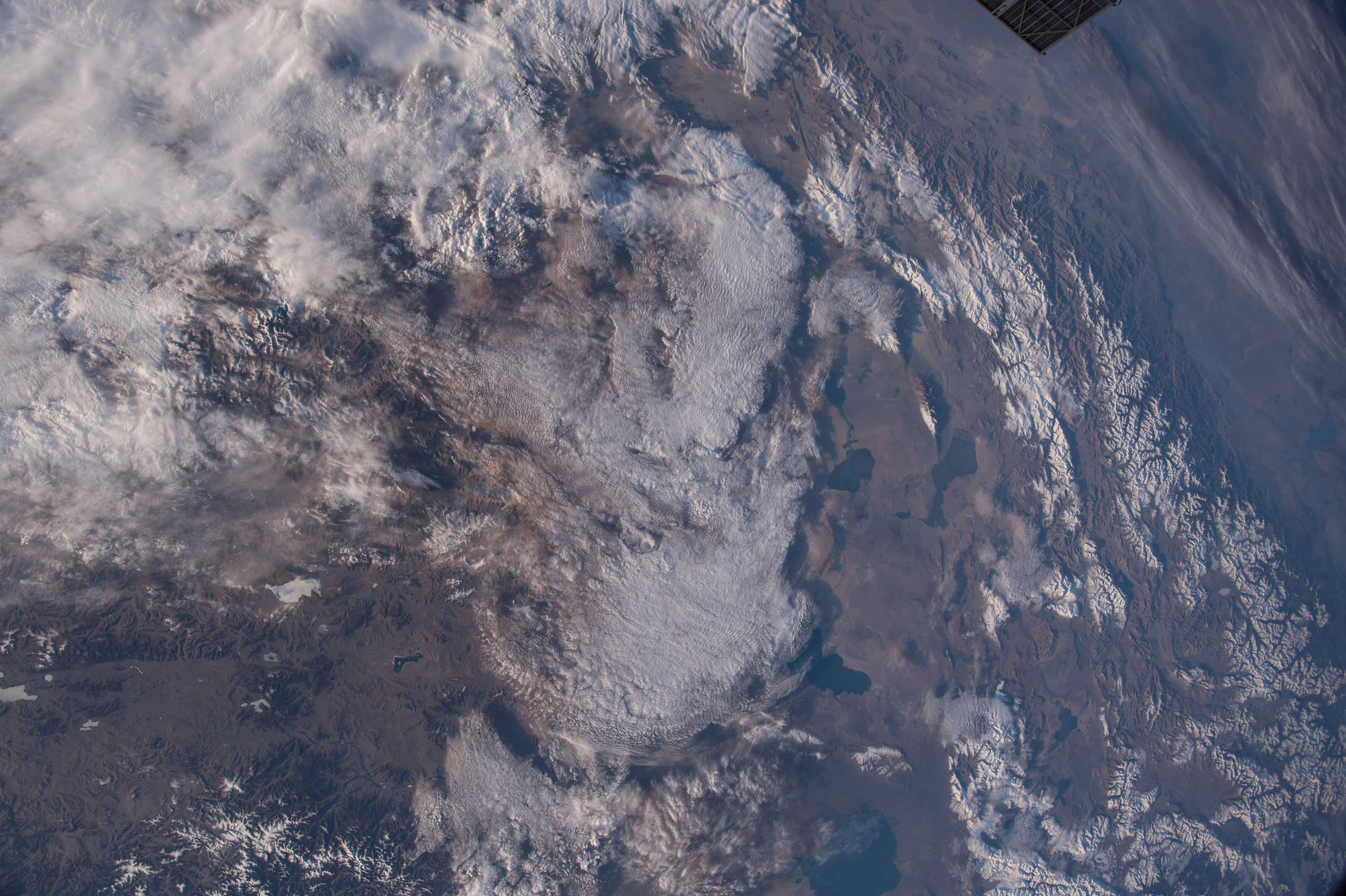 NASA astronaut Terry Virts who is the Commander of Expedition 43 on the International Space Station tweeted this Earth Observation on May 13, 2015, with this comment:  Beautiful part of #Mongolia and #Siberia.