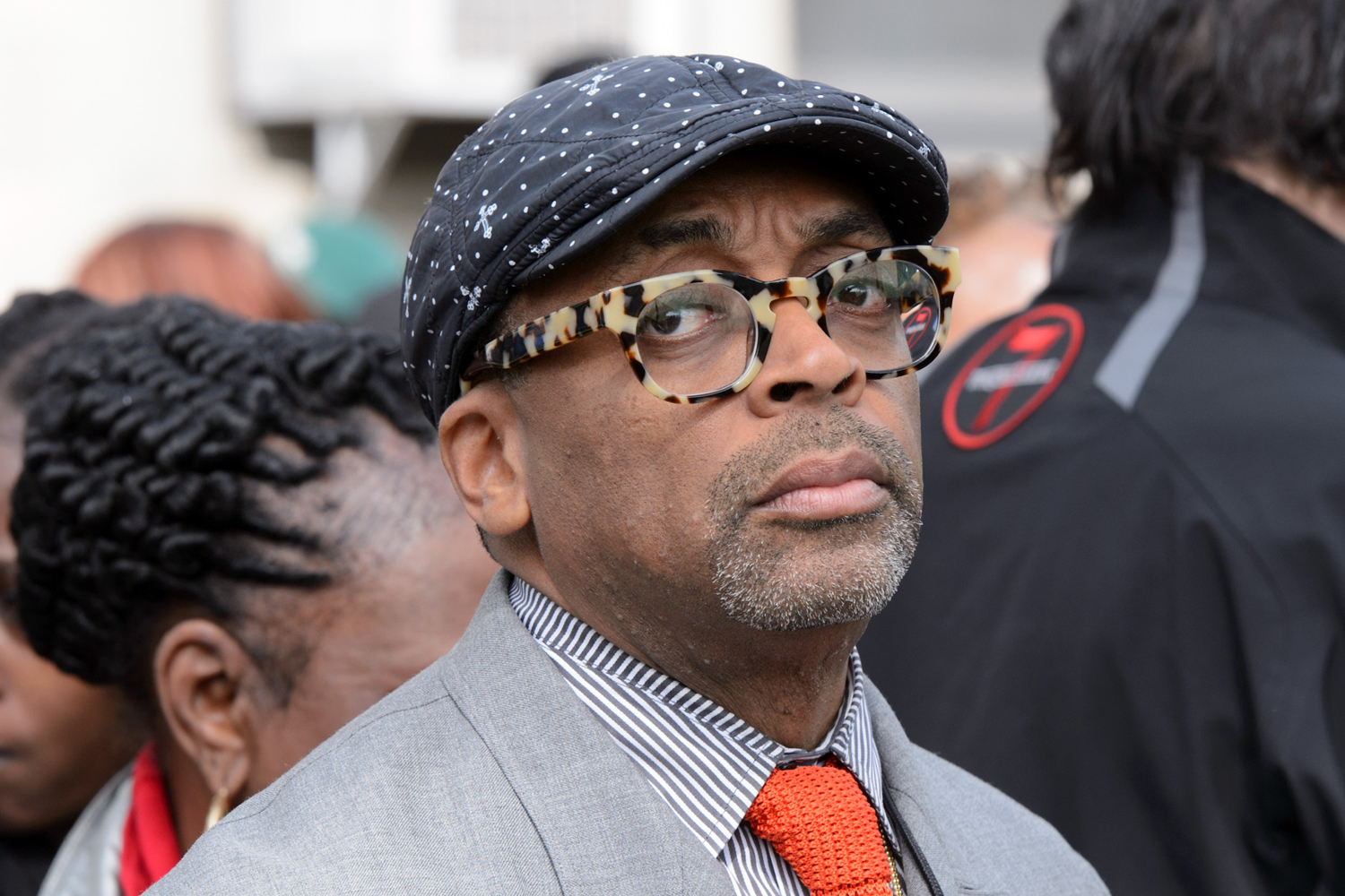 Spike Lee attends a press conference to discuss the upcoming film 'Chiraq' at St. Sabina Church on May 14, 2015 in Chicago, Illinois.