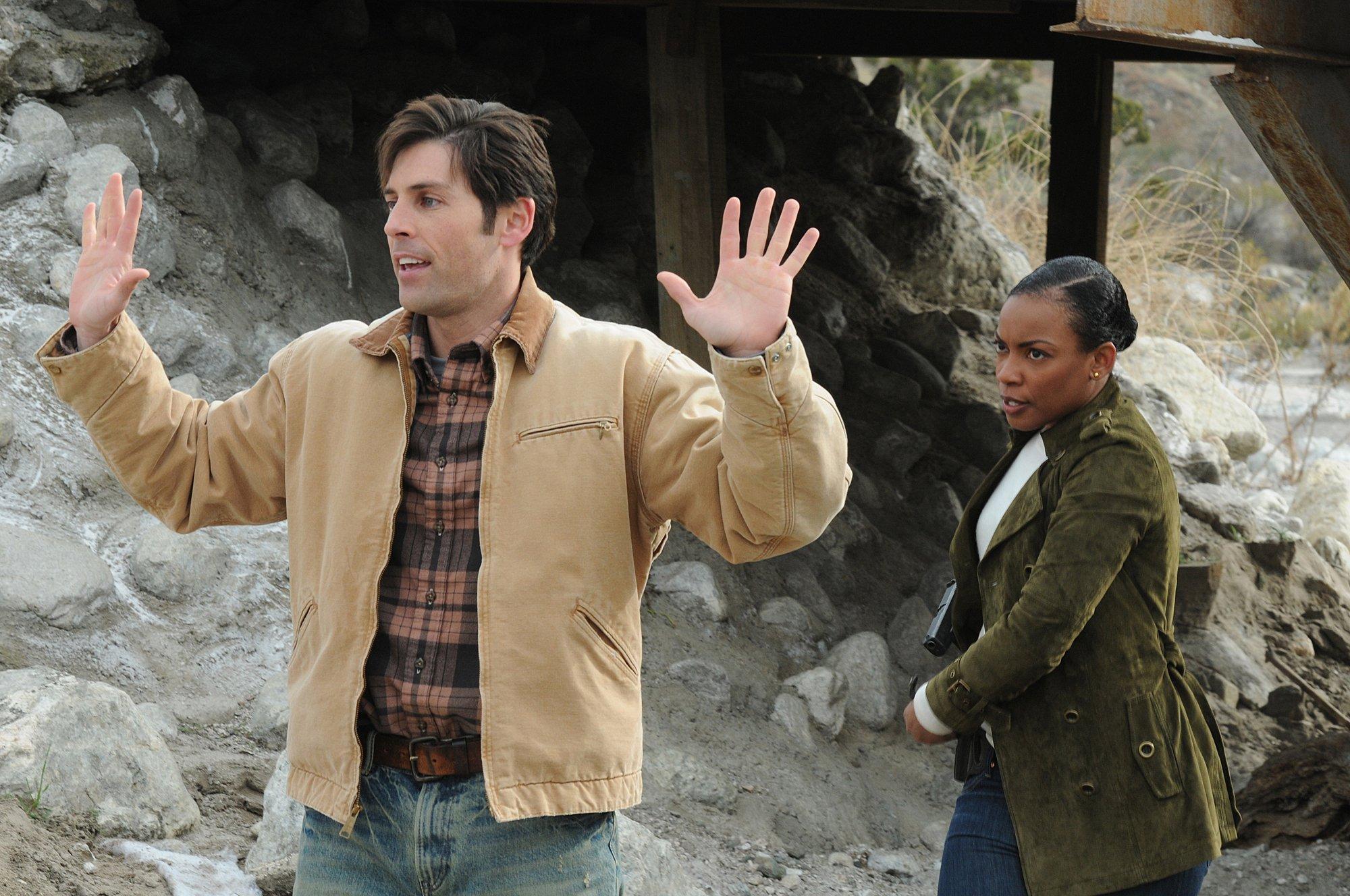 Jordan Belfi and Aunjanue Ellis in The Mentalist (2008)