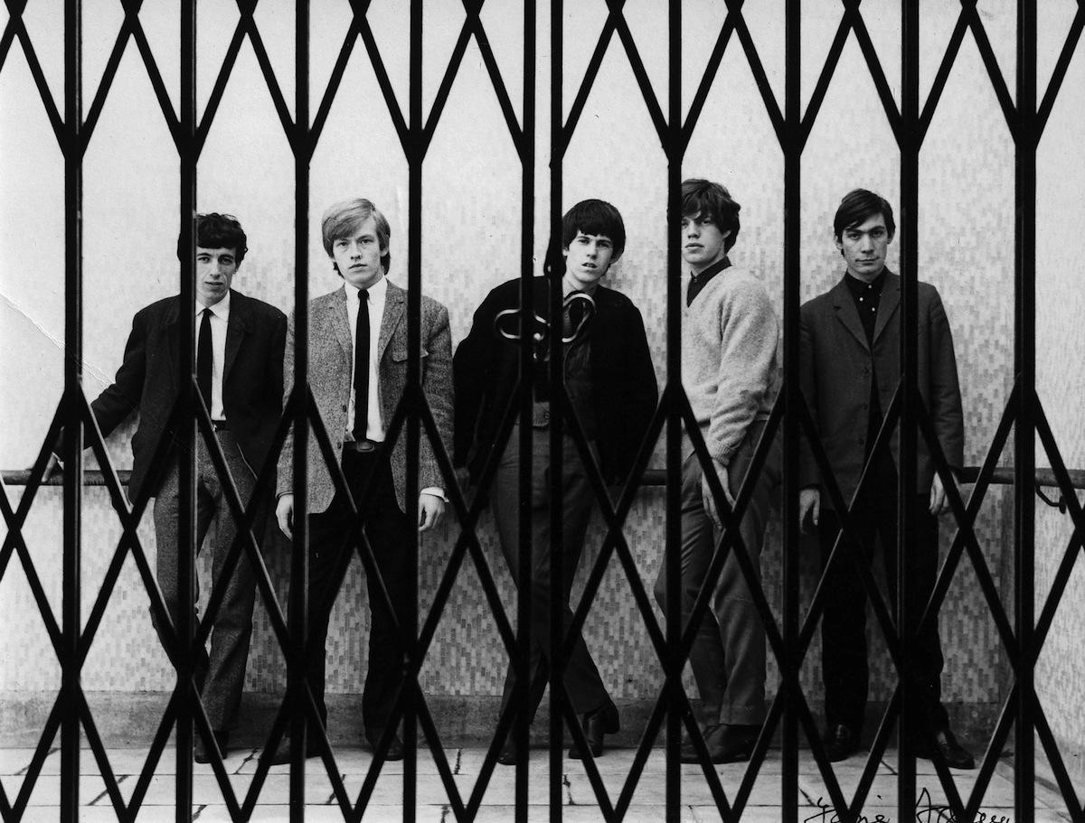 The Rolling Stones (L-R: Bill Wyman, Brian Jones, Keith Richards, Mick Jagger, Charlie Watts) in 1963