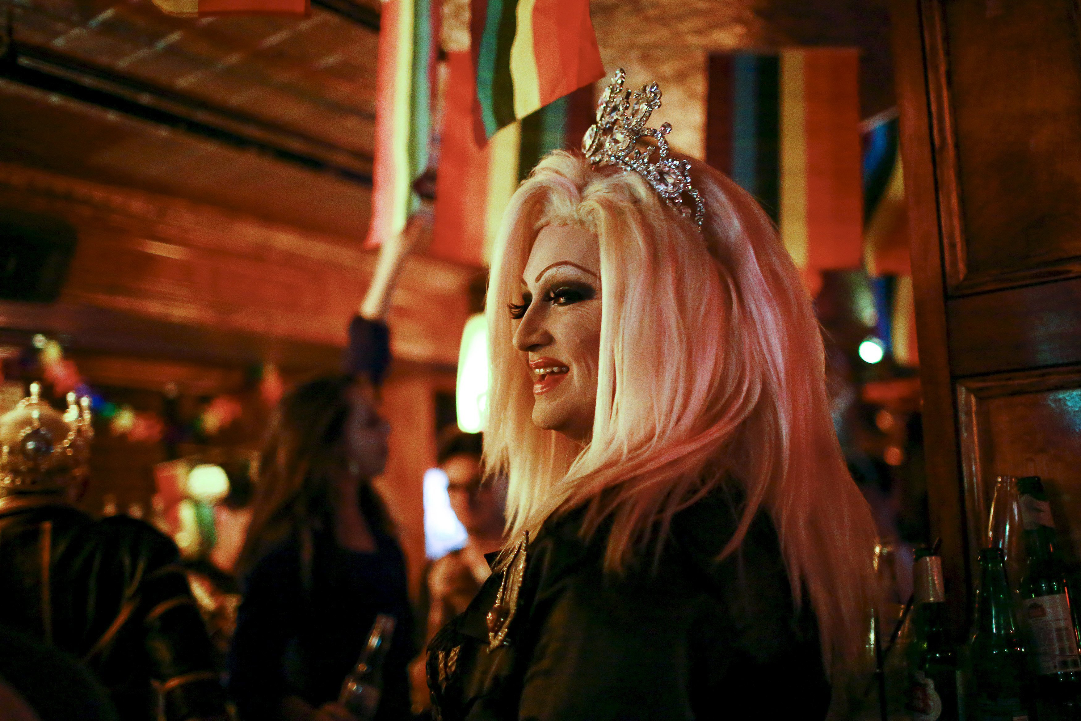 Empress XXIX Madison Mansfield celebrates inside the Stonewall Inn in the West Village neighborhood of New York June 26, 2015.