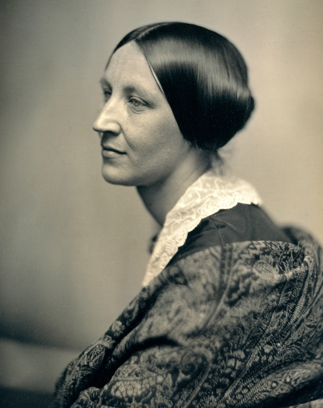 Profile portrait identified as Susan B Anthony in her 30s by SouthworthHawes (Albert Sands Southworth 1811-1894 and Josiah Johnson Hawes 1808-1901, American) (from a daguerreotype in the Metropolitan Museum of Art, New York), c 1850.