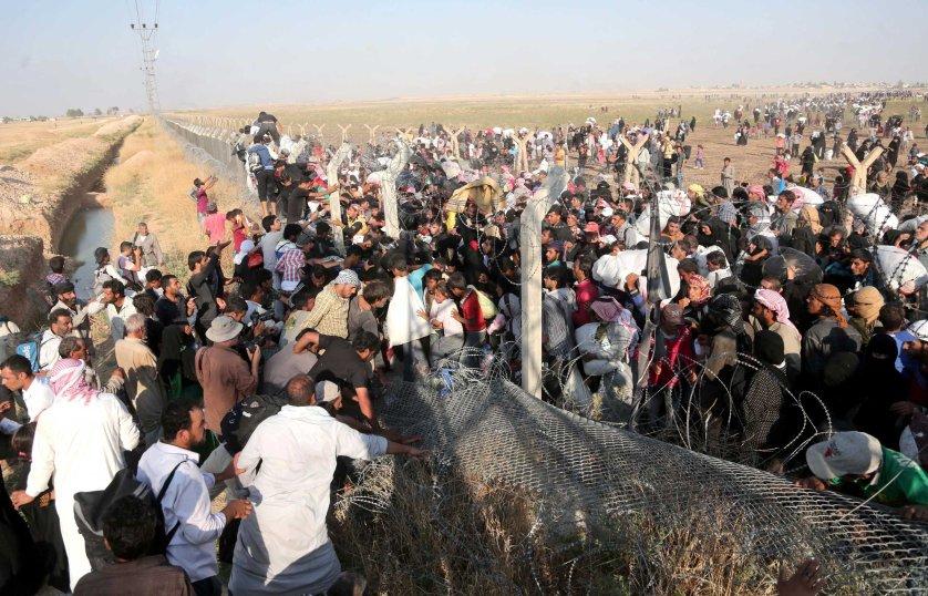 Syria turkey border refugees