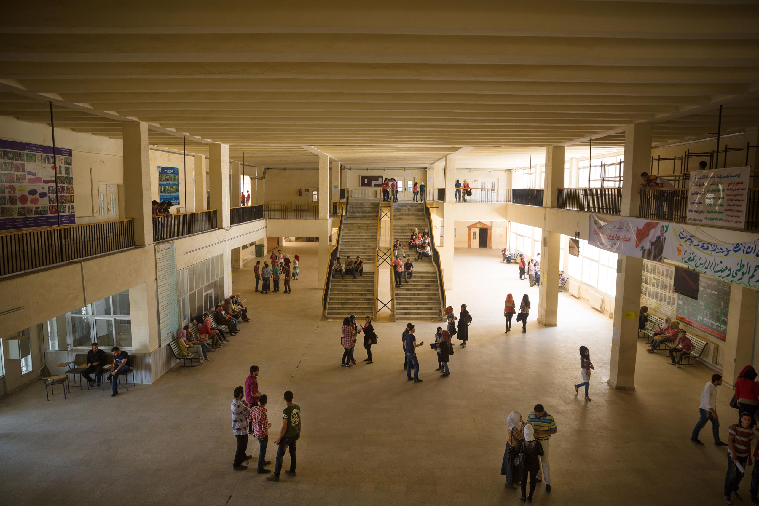 Normality alternates with anxiety in Deir-ez Zor. Thousands of students attend the university and the schools remain open, while Syrian troops battle ISIS in surrounding areas of the city. In April 2015, the United Nations added Deir-ez Zor, with its population of 228,000, to the list of besieged Syrian cities, May 24, 2015.