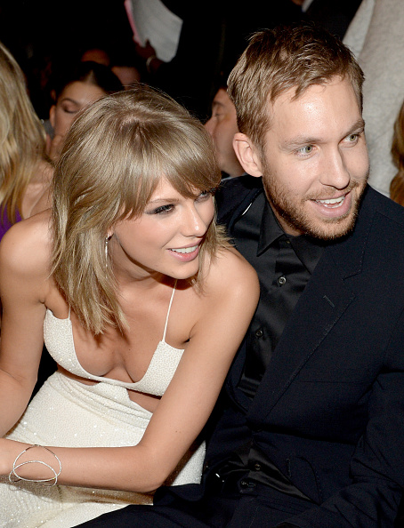 Taylor Swift (L) and Calvin Harris at the 2015 Billboard Music Awards in las Vegas on May 17, 2015.