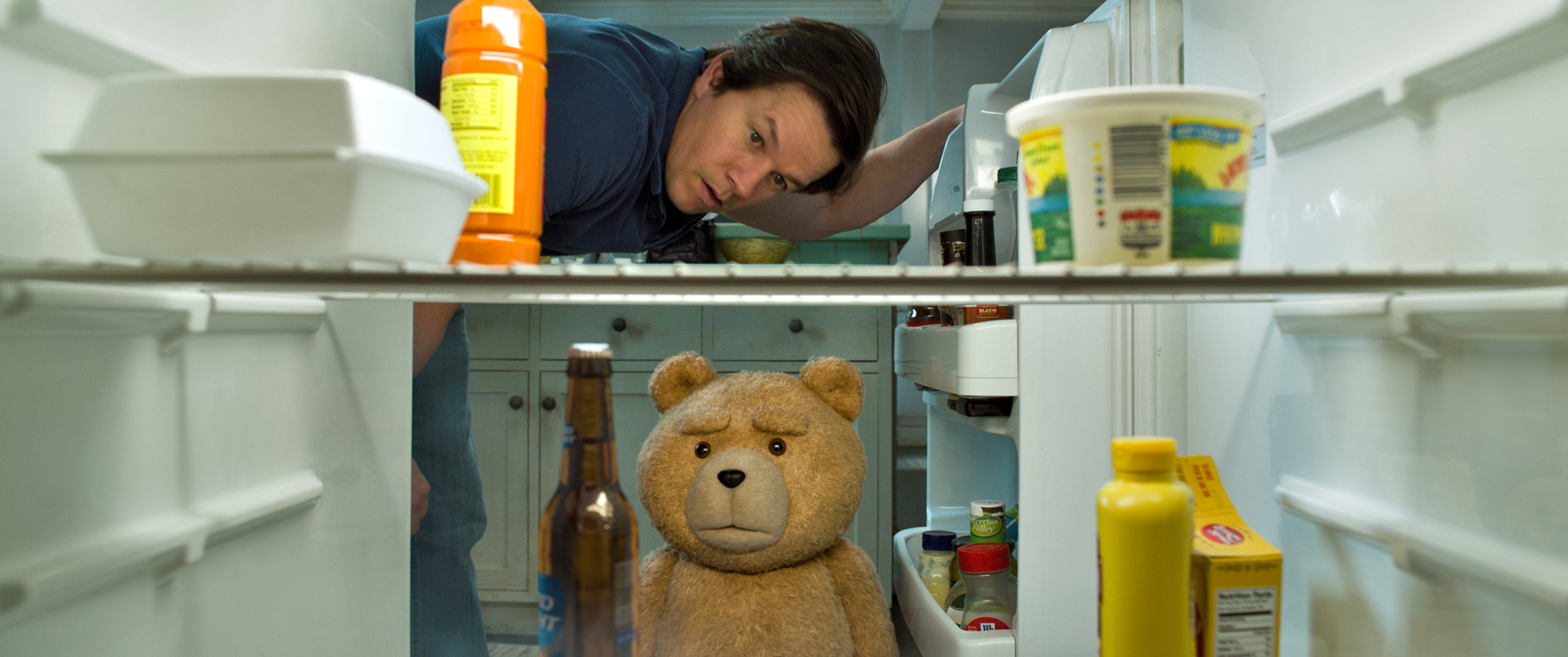 John (Mark Wahlberg) and Ted (Seth Macfarlane) are Thunder Buddies for life in Ted 2.