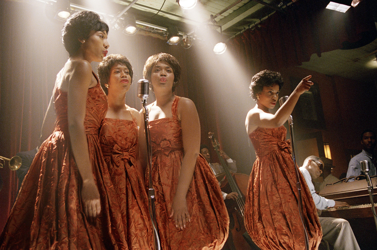 Renée Wilson, Regina King, Kimberley Ardison, and Aunjanue Ellis in Ray (2004)
