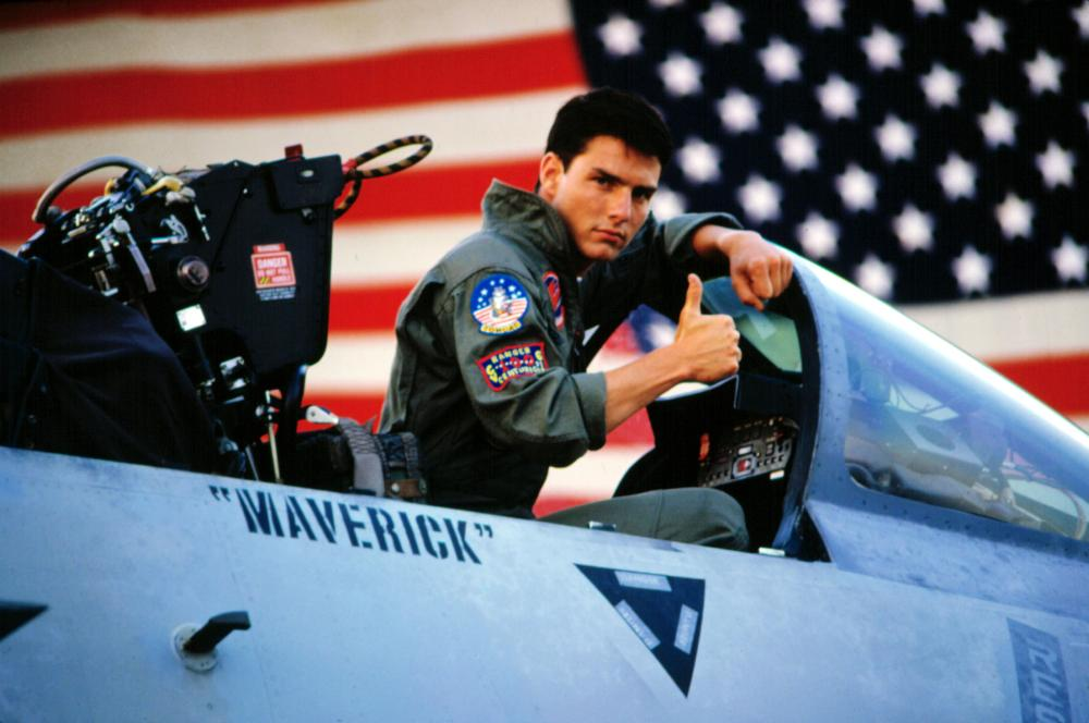 Tom Cruise in 'Top Gun,' 1986.
