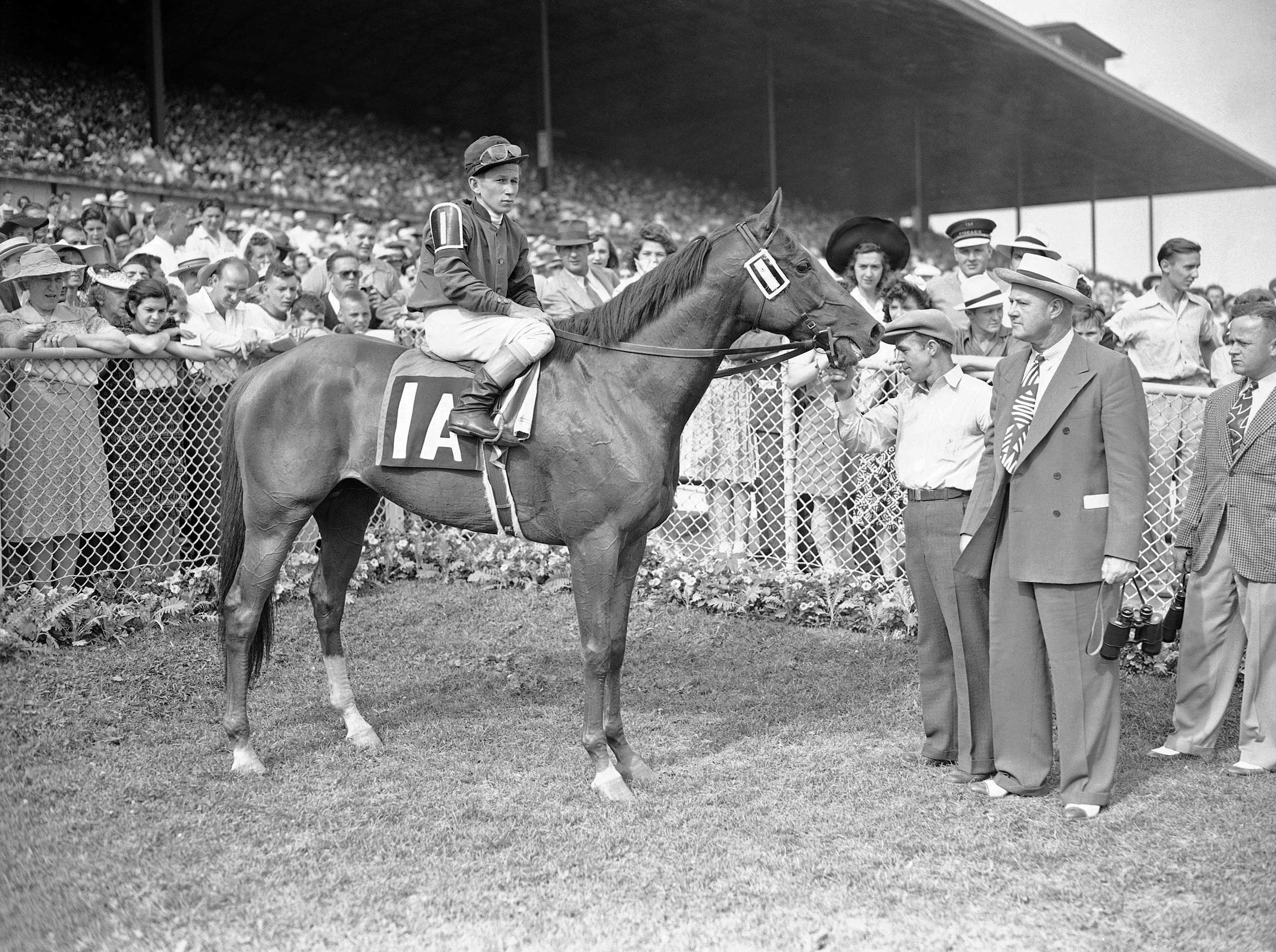 1941: Whirlaway with jockey Wendell Eads