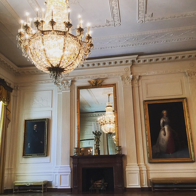 Here's a peak into the East Room, where Protocol works with the @whitehouse on many events, including recently the Japan State Dinner. #whitehousetour