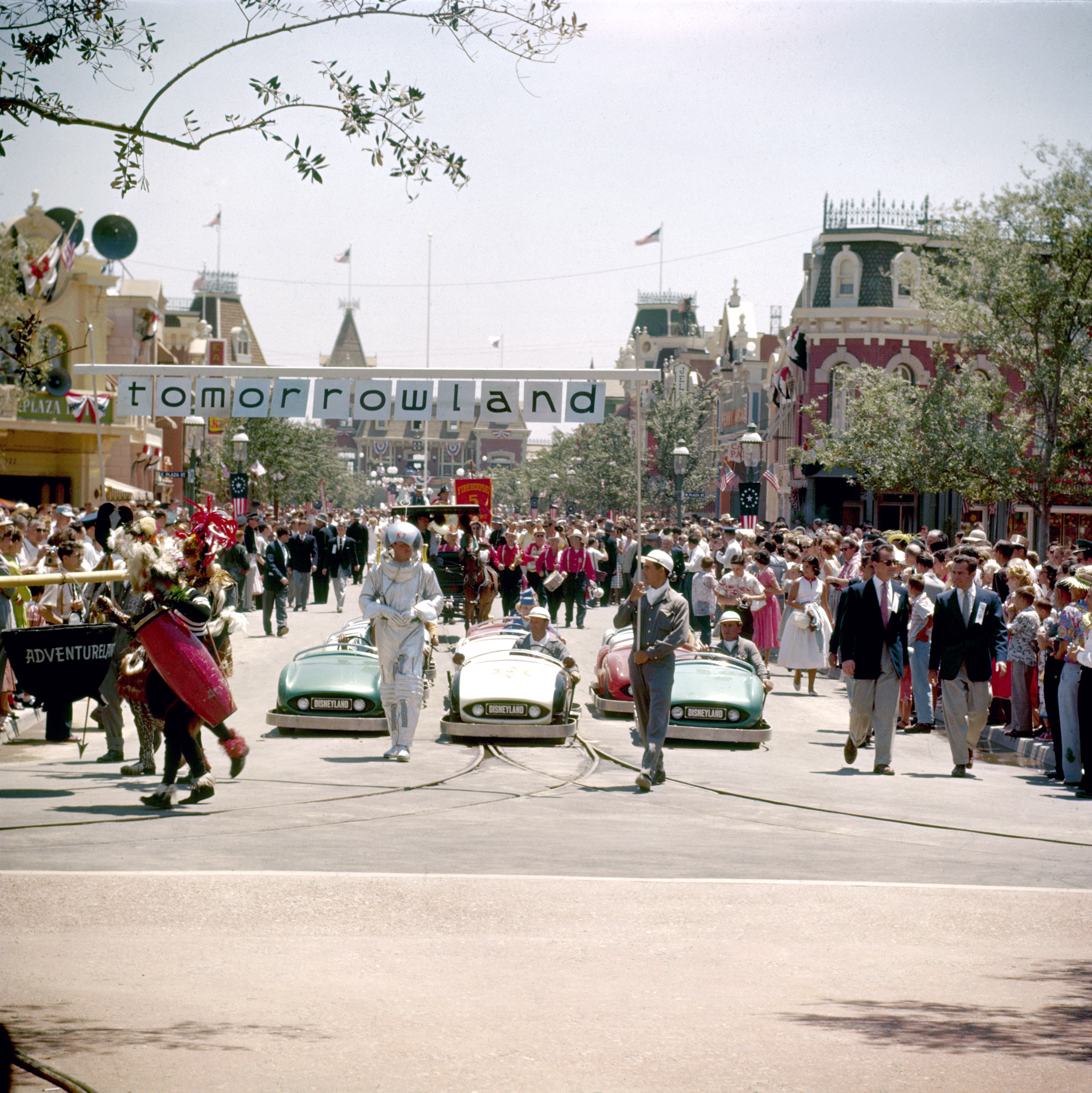 Disneyland Parade done as a preview for national television, 1955.