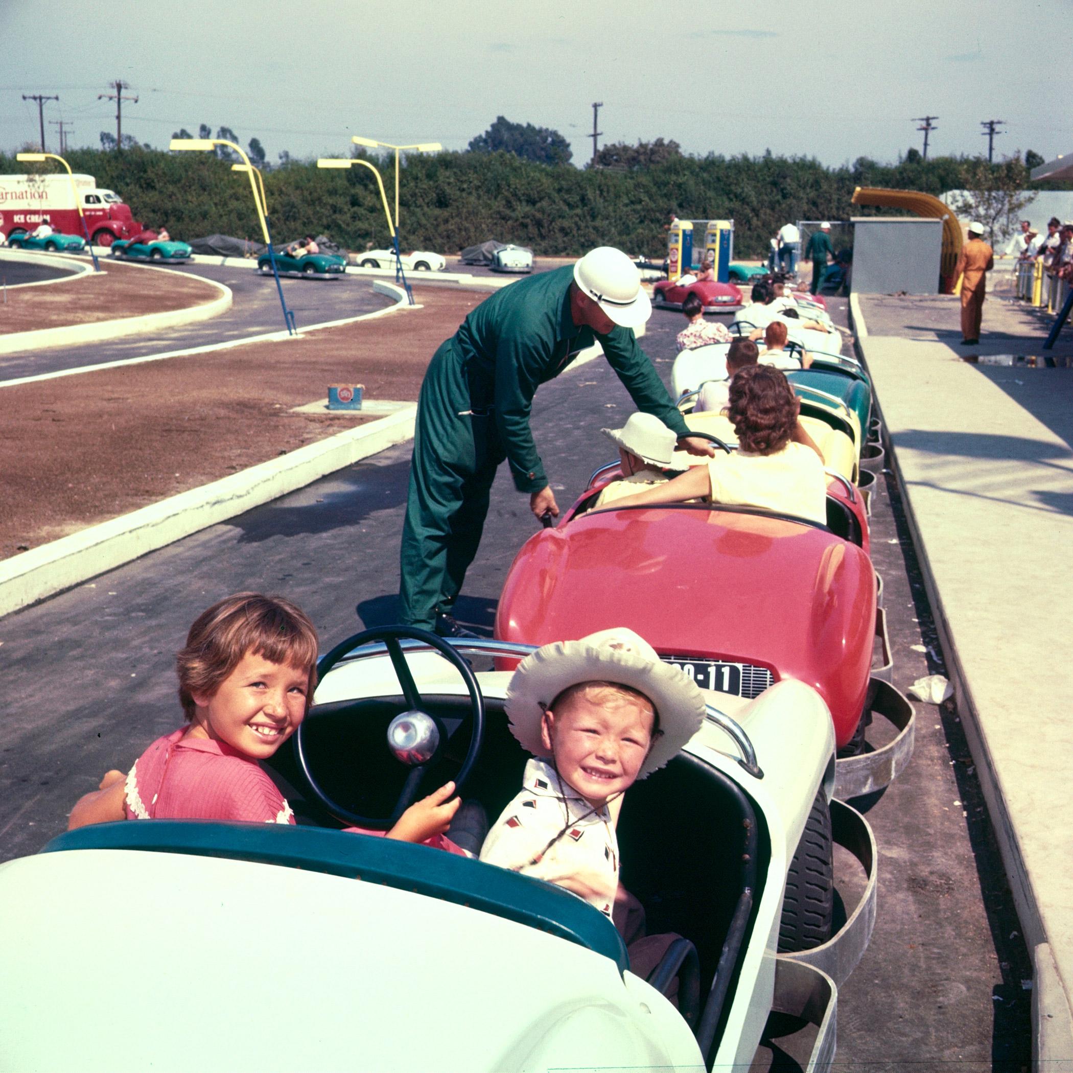 Disneyland rides in 1955.