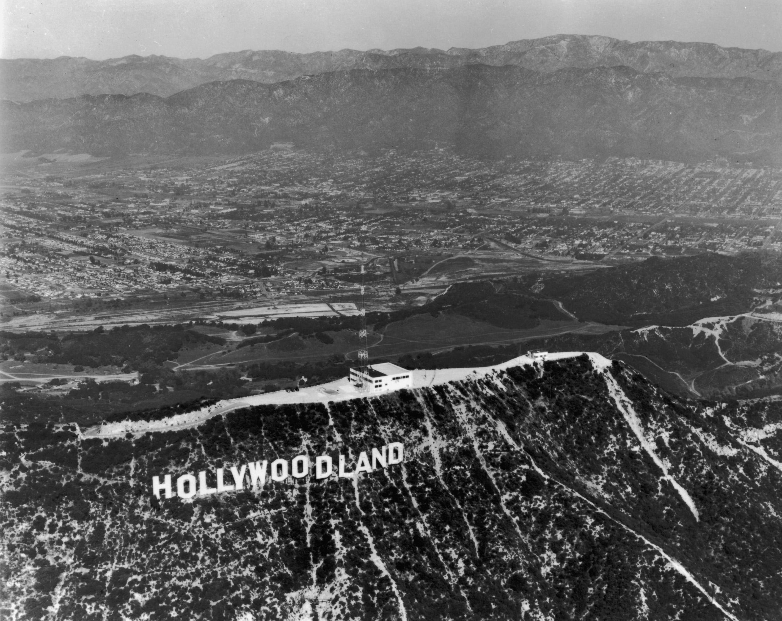 Hollywoodland sign, Hollywood, California, 1935.