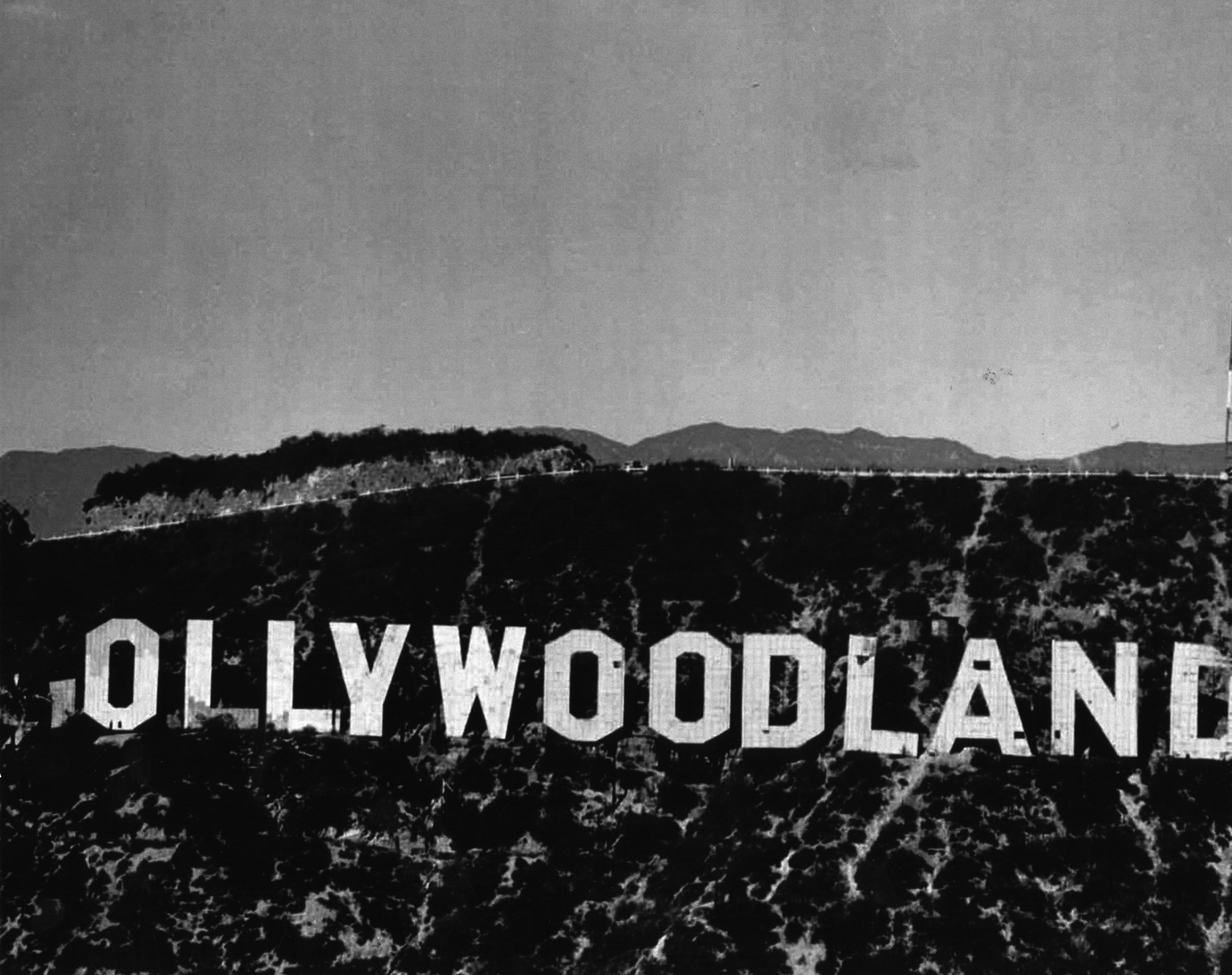 The  ollywoodland  sign, 1949.