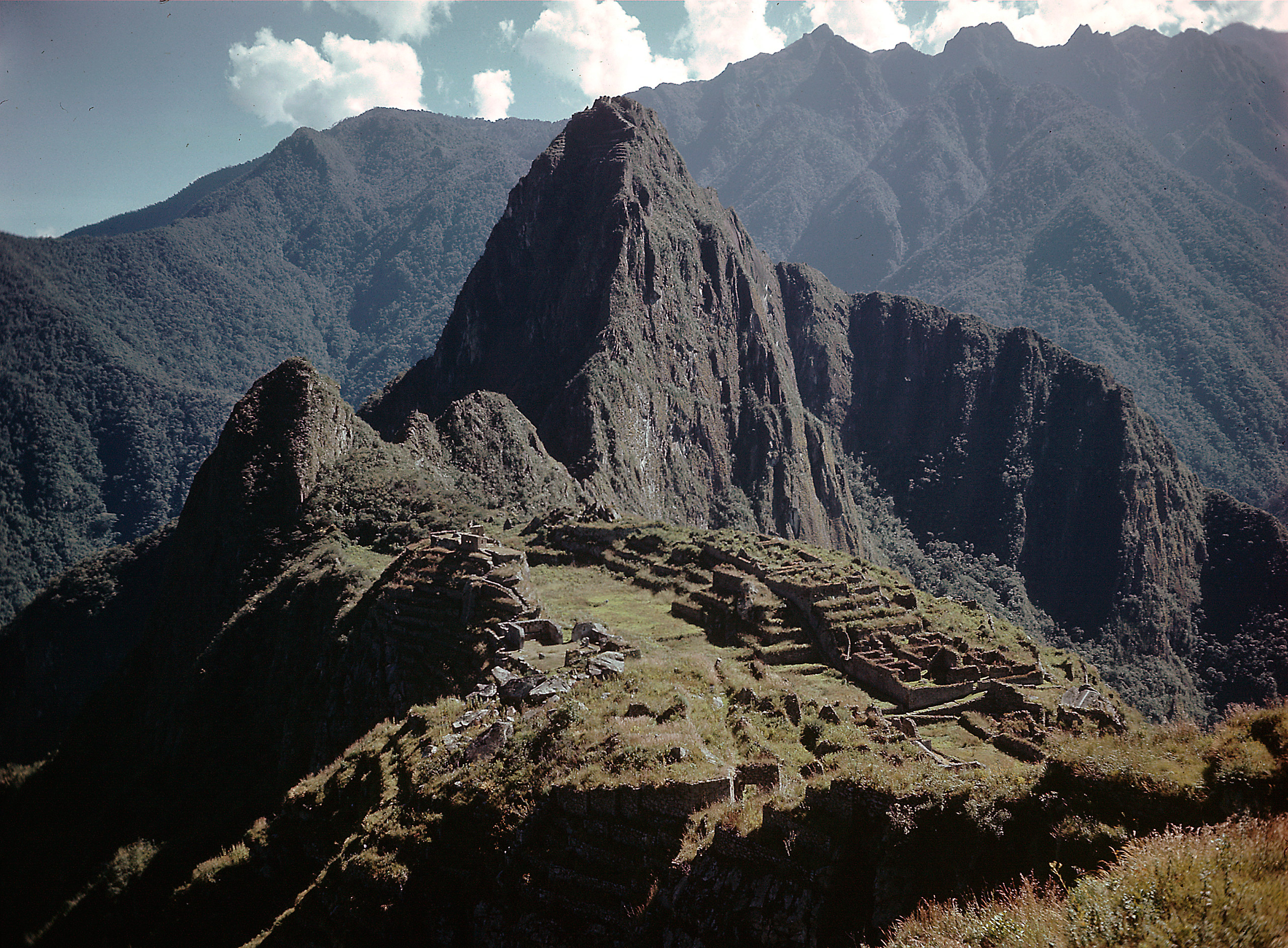 The Inca Ruins of Machu Picchu in Peru, 1945.