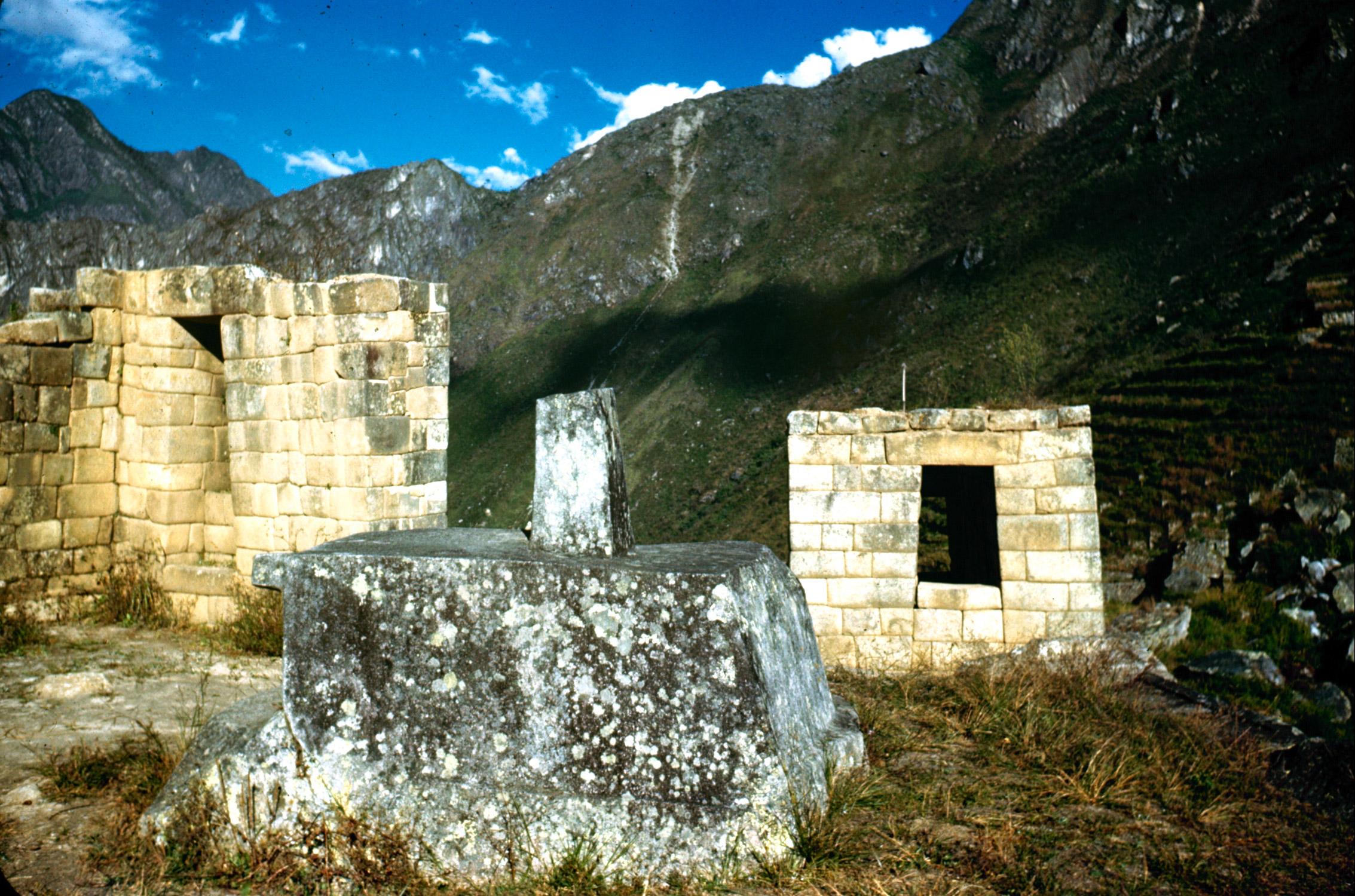 The Inca Ruins of Machu Picchu in Peru, 1945.